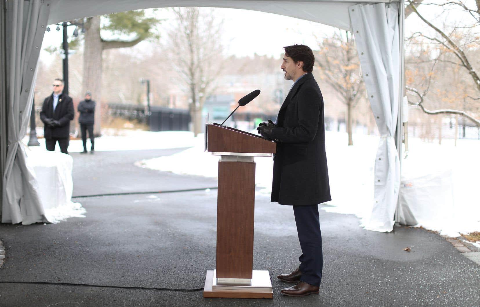<p>Le premier ministre Justin Trudeau</p>
