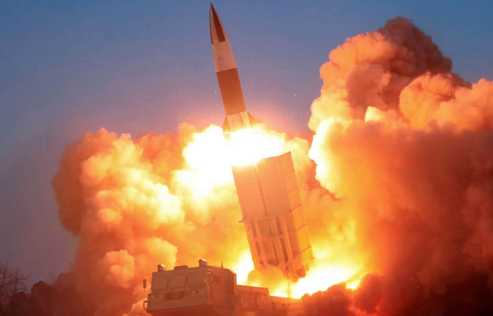 <p>Le 21mars, la Corée du Nord avait ainsi tiré deux missiles balistiques de courte portée.</p>