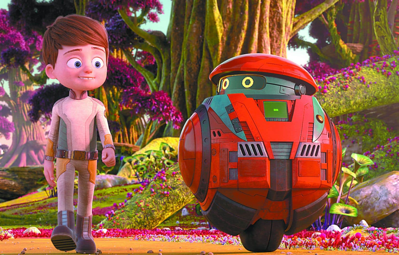 Willy se retrouve naufragé sur une planète inconnue en compagnie de Buck, un robot chargé de le protéger.
