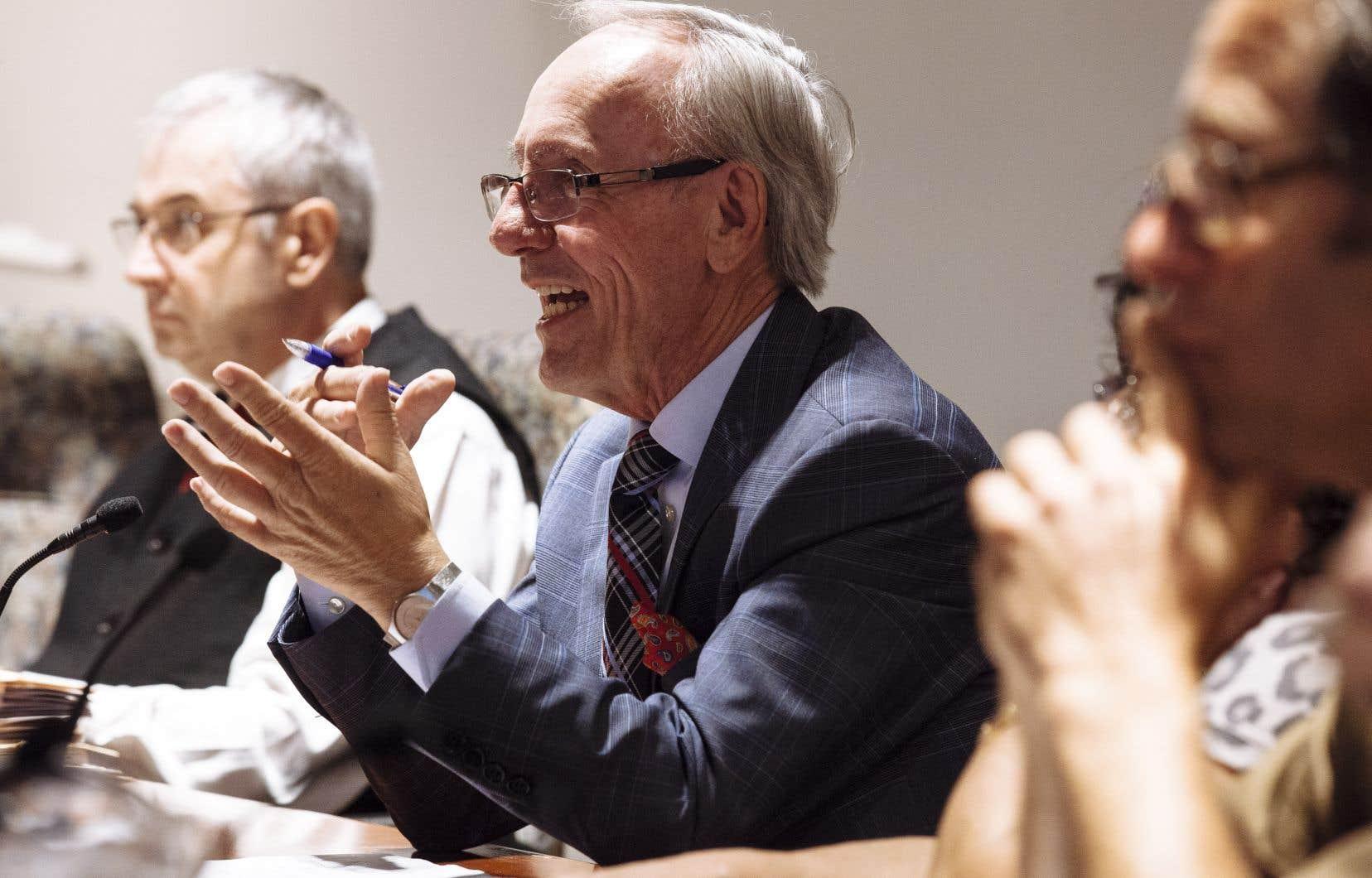 Émile Loranger en 2013, alors qu'il sollicitait un huitième mandat de suite.
