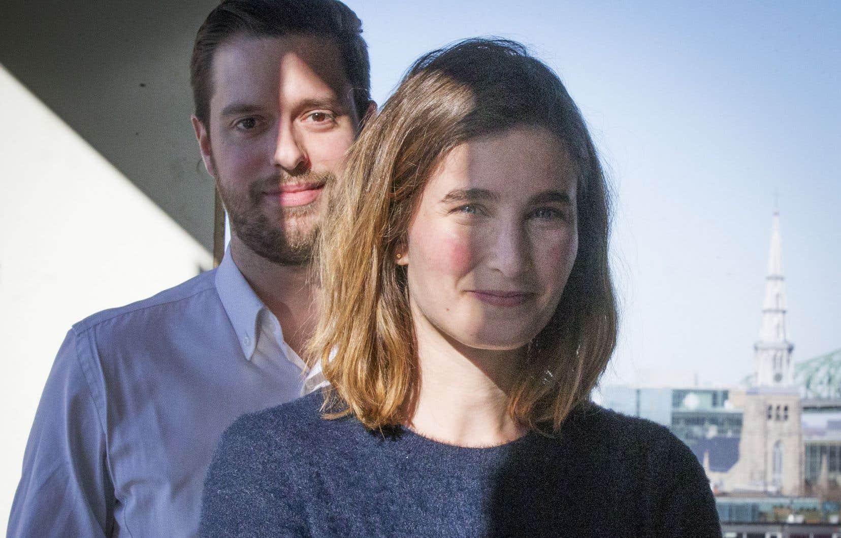 La directrice générale de Juripop, Sophie Gagnon, et le vice-président Julien Nepveu
