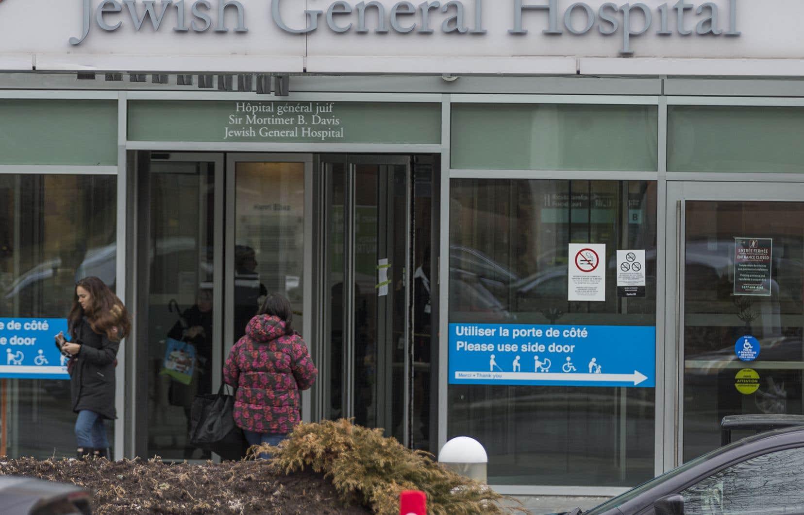 À l'Hôpital général juif, les conjoints ne sont plus autorisés dans la salle d'accouchement ni dans l'unité de soins post-partum, aussi longtemps que durera la pandémie.