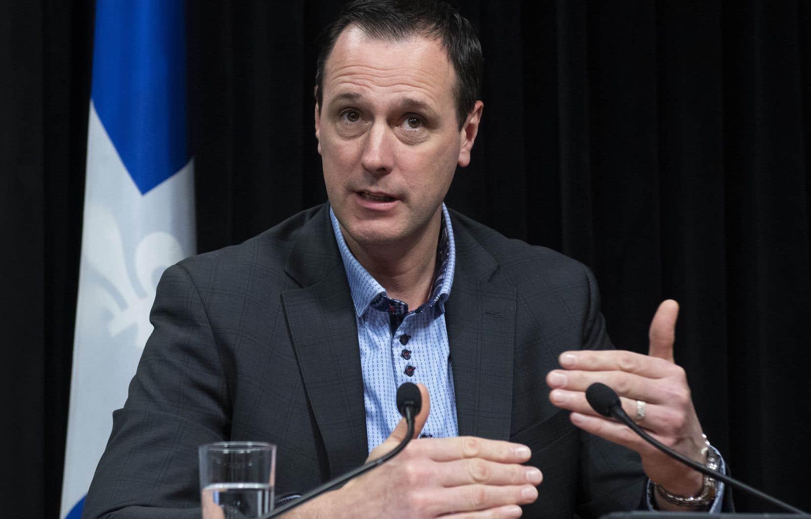 Le ministre de l'Éducation et de l'Enseignement supérieur, Jean-François Roberge