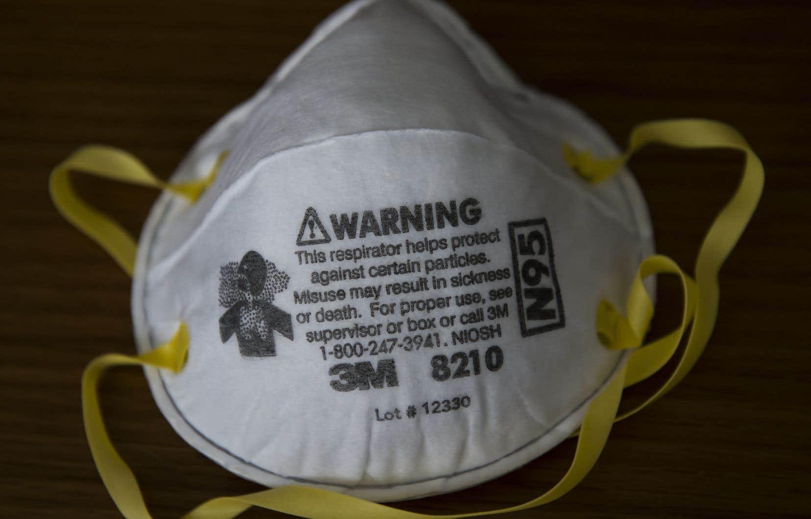 La compagnie américaine 3M a annoncé qu'elle produirait 166,5 millions de masques au cours des prochains mois aux États-Unis.