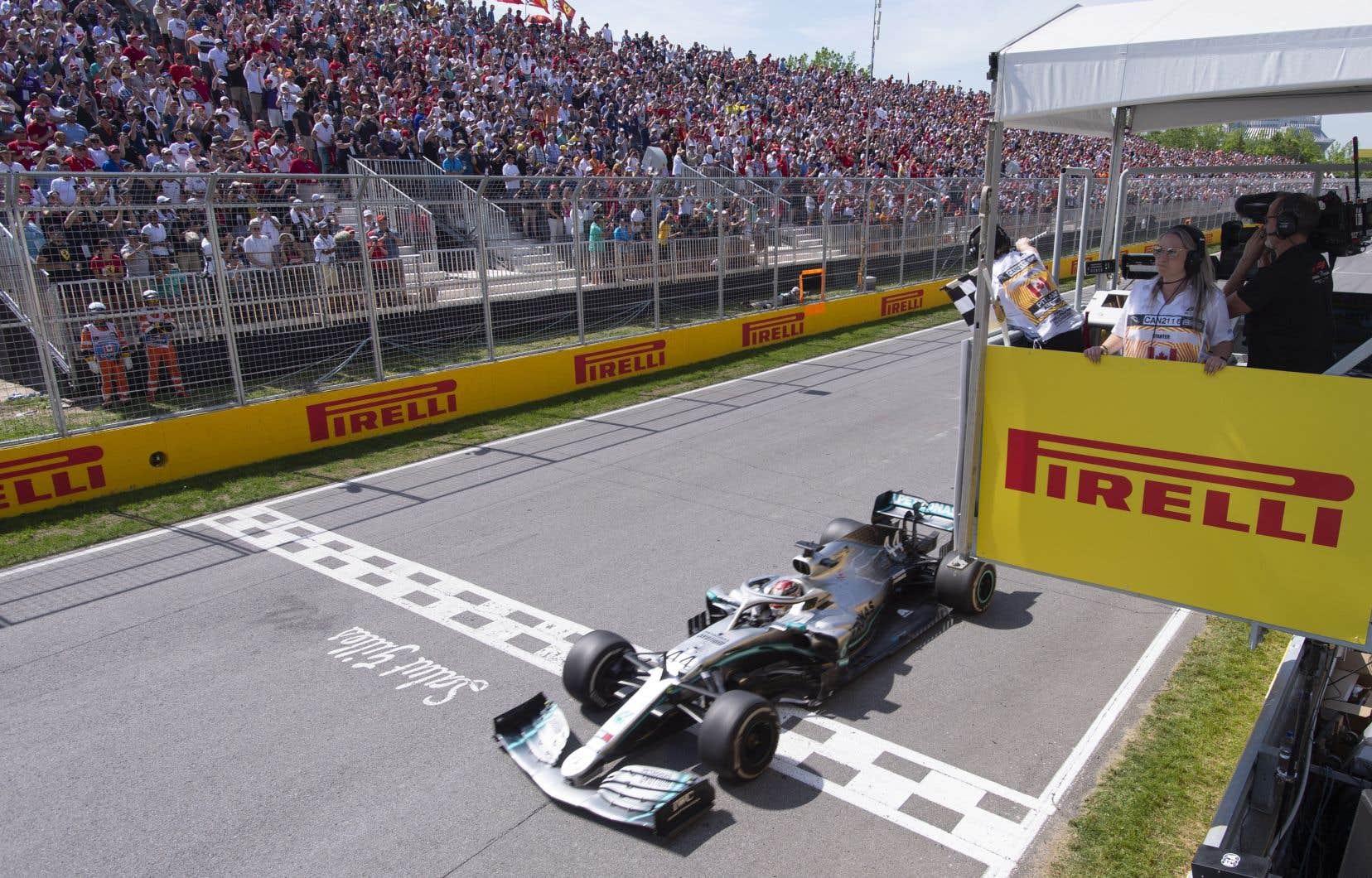 Le pilote Mercedes Lewis Hamiltona remporté le Grand Prix du Canada l'an dernier à Montréal.