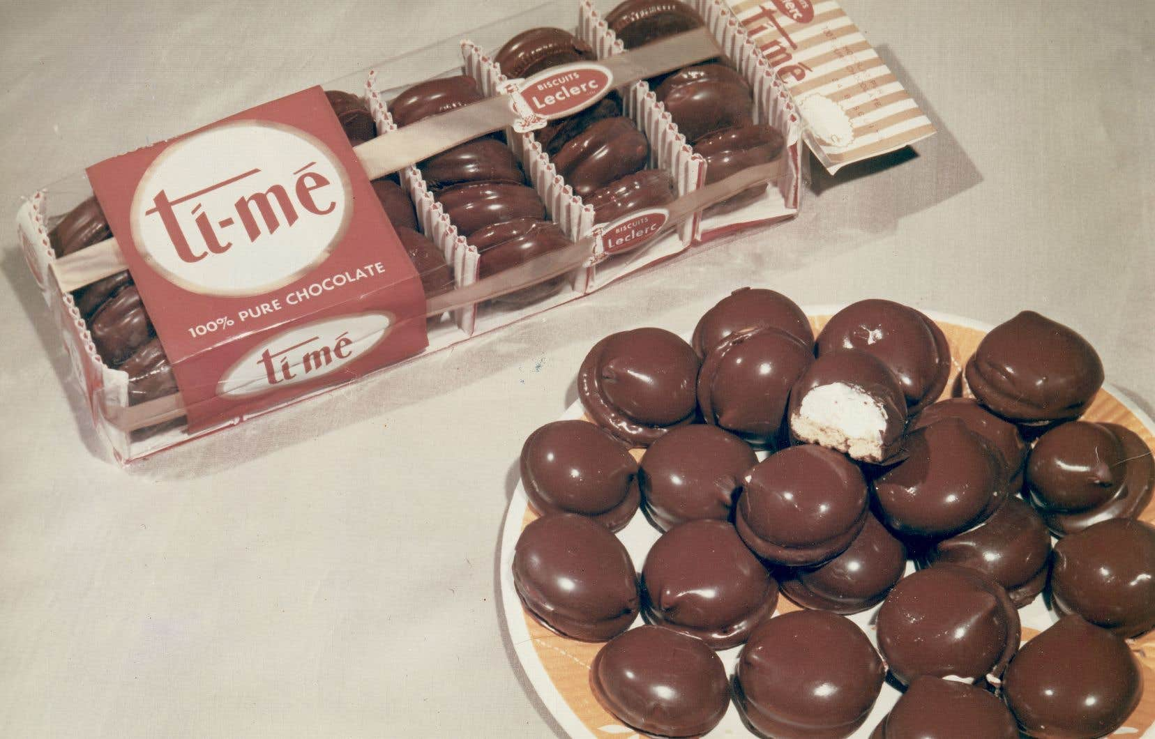 Les biscuits Ti-Mé produits par Biscuits Leclerc en 1950
