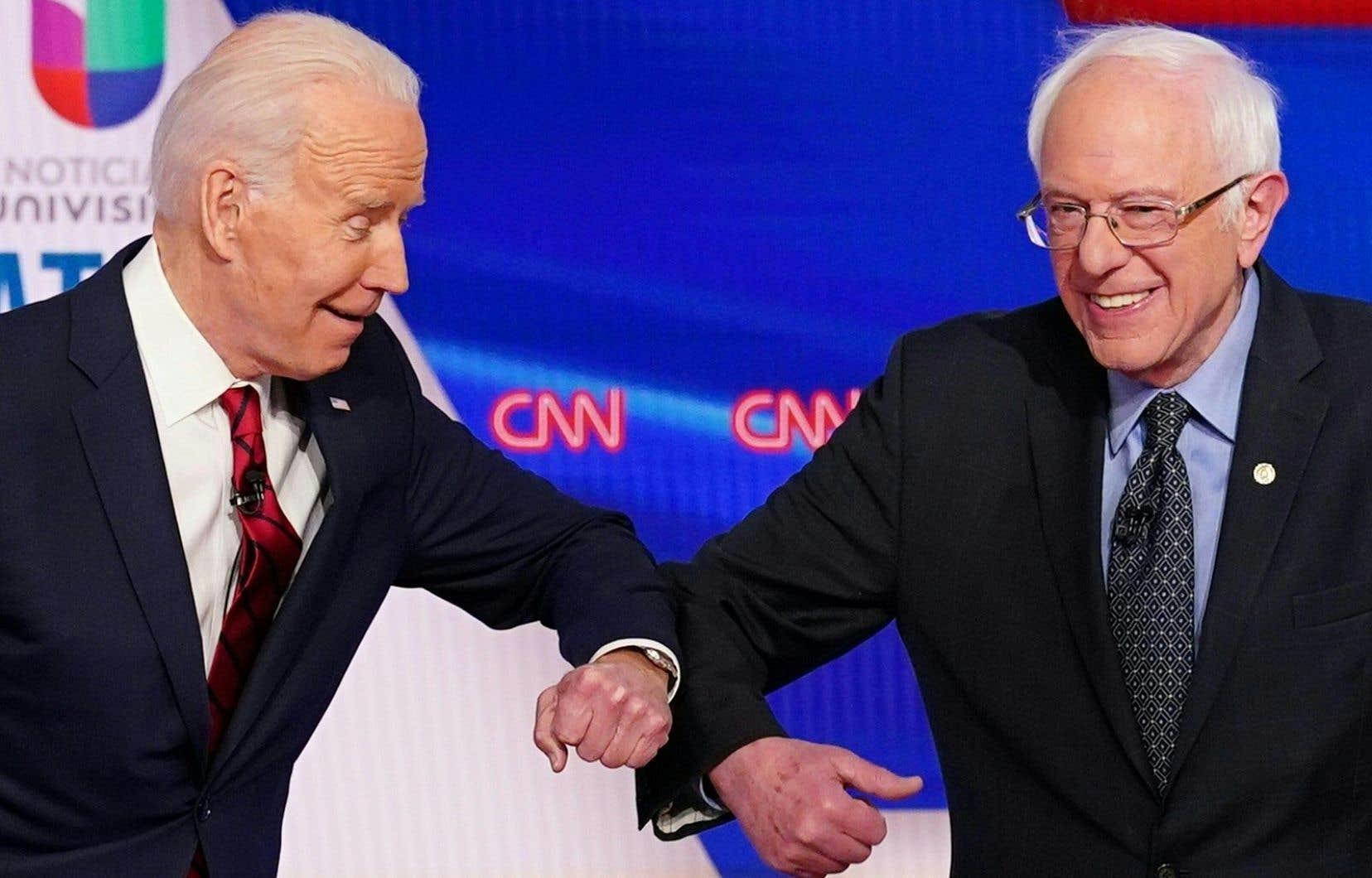 L'ancien vice-président Joe Biden et le sénateur Bernie Sanders