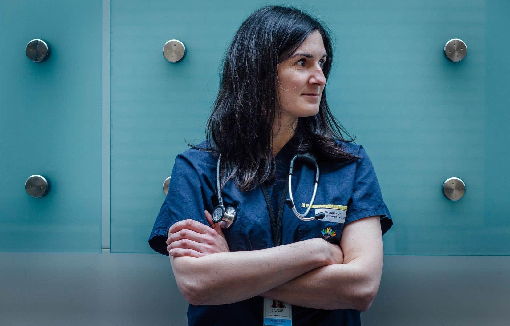Laurie Robichaud, urgentologue à l'Hôpital général juif, à Montréal, traite des patients atteints de la COVID-19 depuis l'éclosion de la pandémie au Québec.