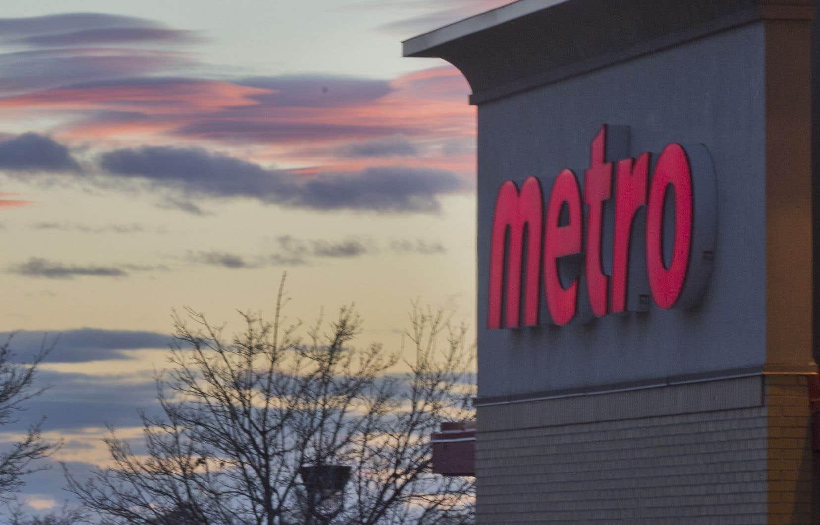 La hausse du chiffre d'affaires de Metro est de 125millions au cours des deux premières semaines de mars.