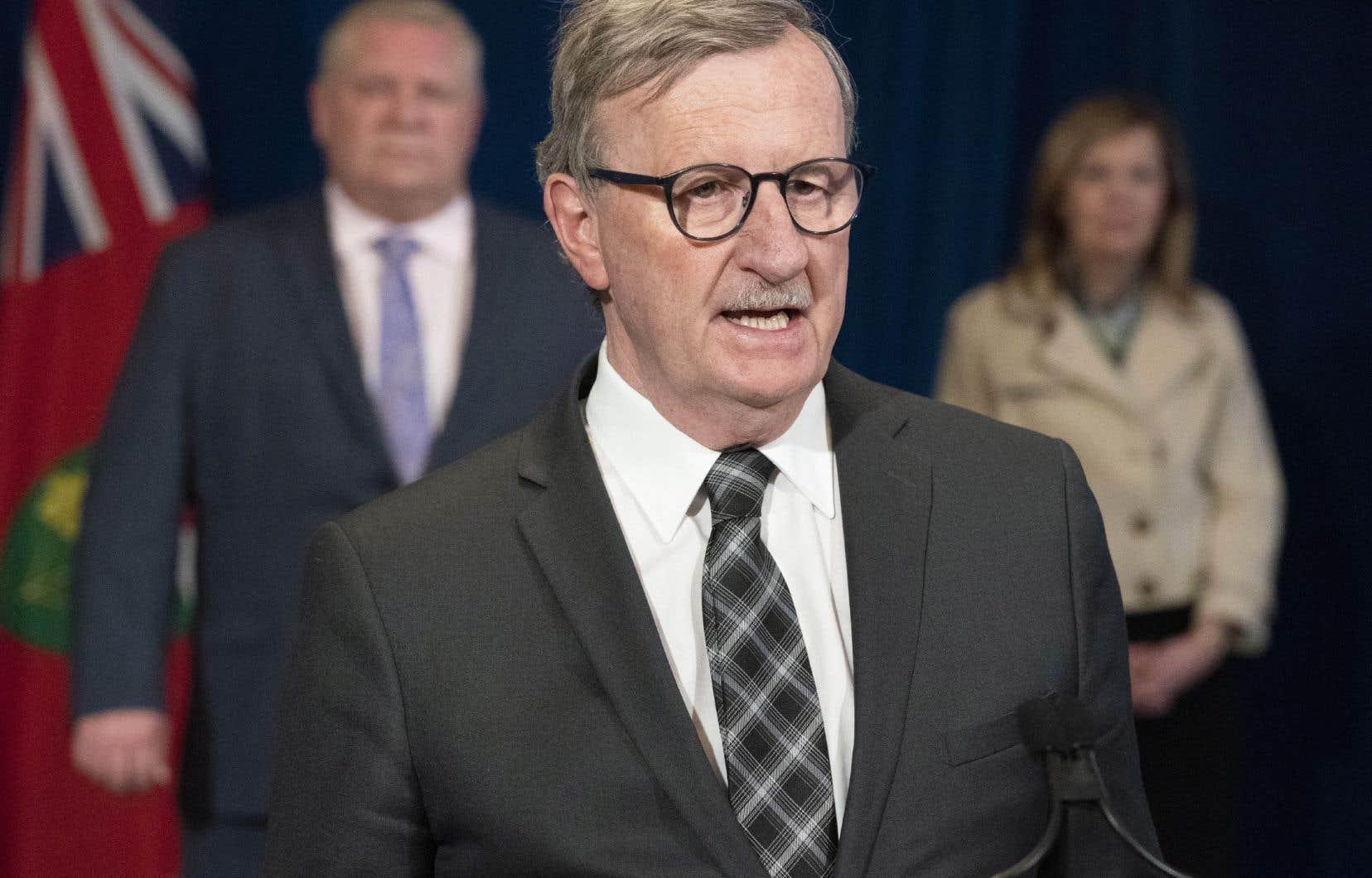 Le D<sup>r</sup>David Williams, médecin hygiéniste en chef de l'Ontario, surveillera toutes les étapes du déconfinement ontarien.