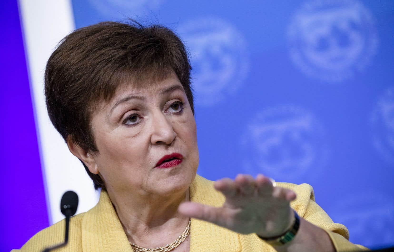 La directrice générale du Fonds monétaire international, Kristalina Georgieva, prône pour une reprise économique respectueuse de l'environnement.