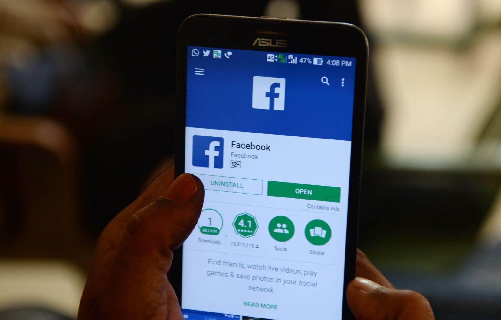 Facebook admet avoir subi «une réduction significative de la demande des annonceurs et une baisse de [ses] tarifs pendant les trois dernières semaines de mars».