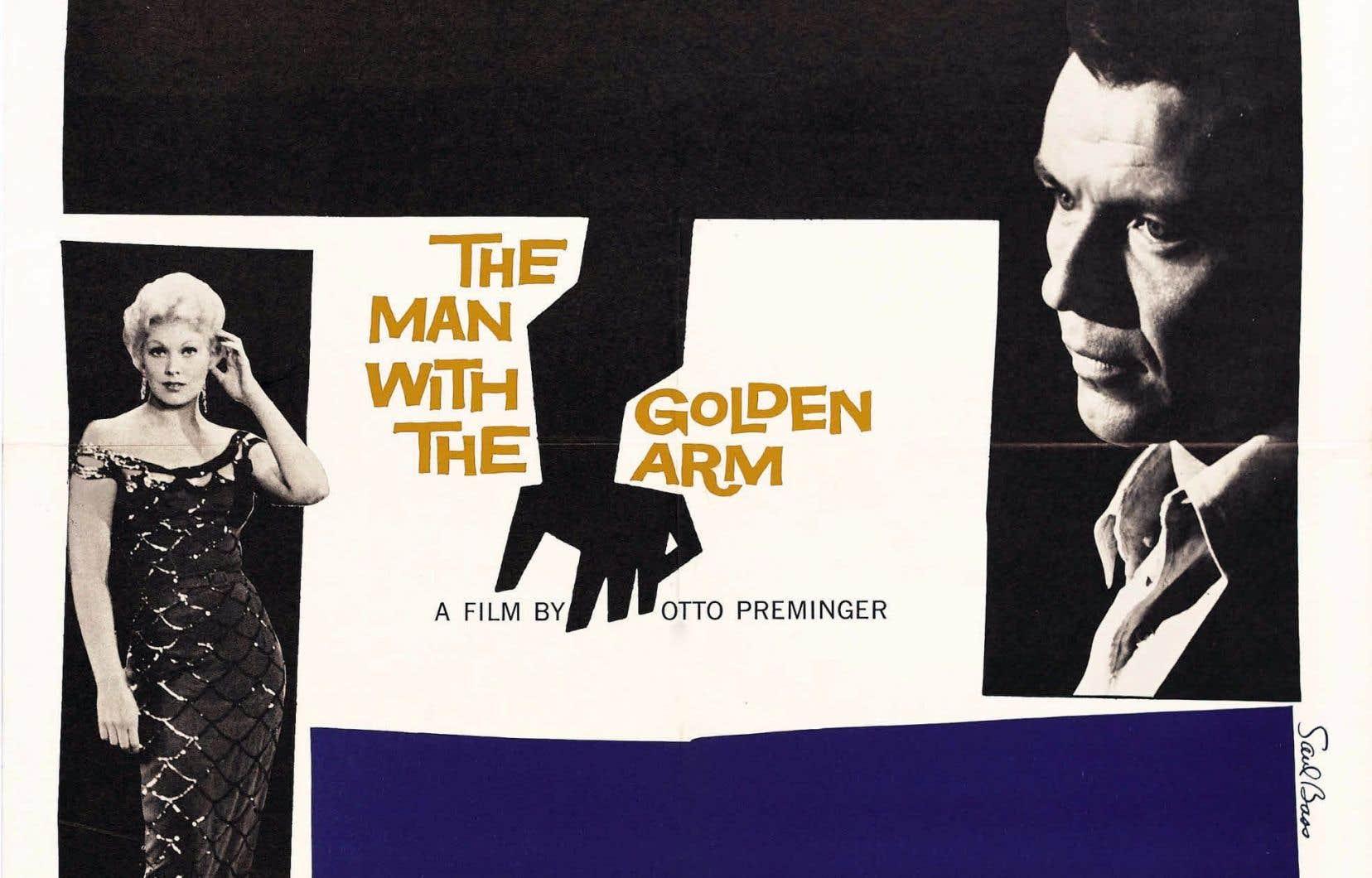Créée par le légendaire Saul Bass, l'affiche du film «The Man with the Golden Arm»