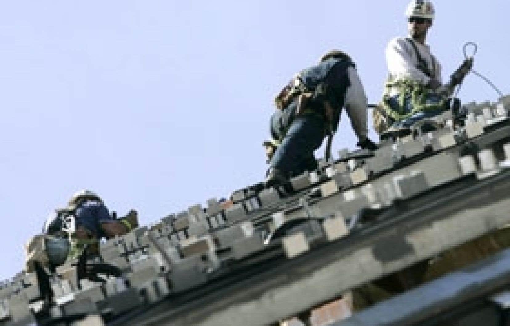 Le secteur de la construction a affiché un déclin de 0,4 % au mois de mai.