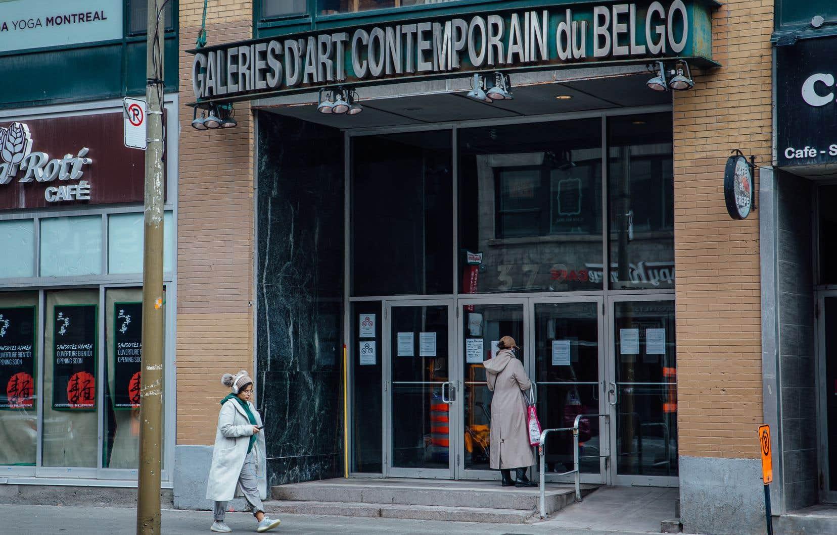 L'Édifice du Belgo, rue Sainte-Catherine à Montréal, où se trouve notamment la galerie de photographie La Castiglione, est fermé en raison de la pandémie de COVID-19.