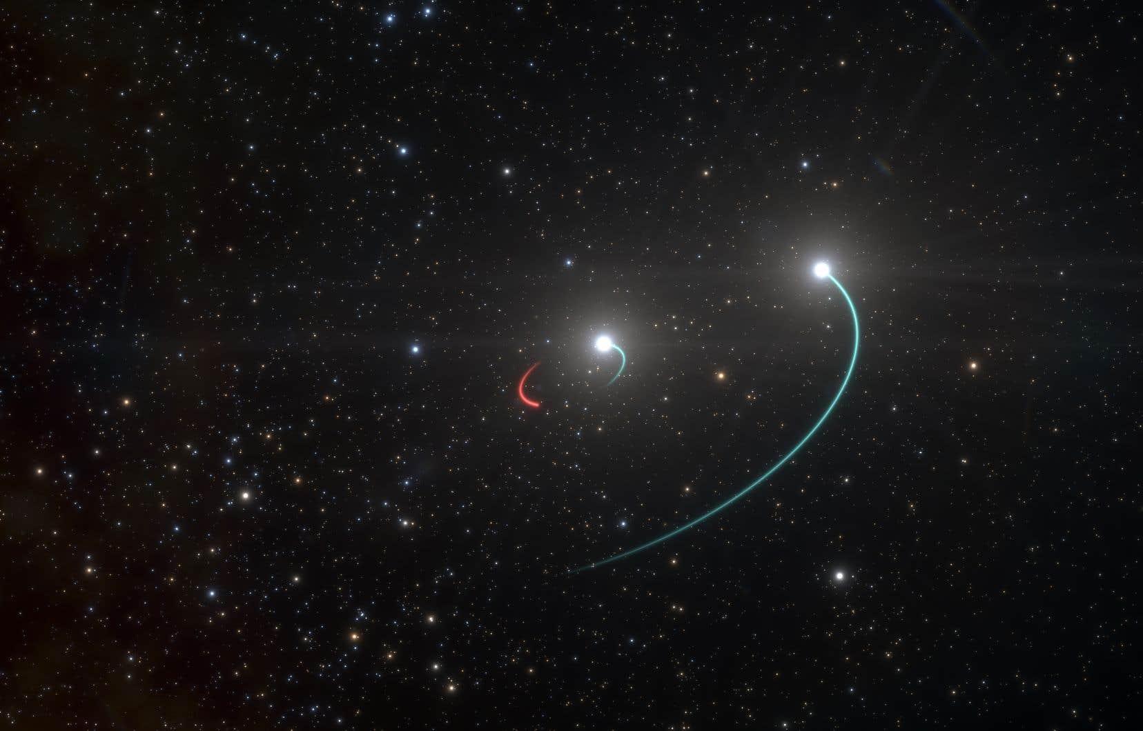 L'équipe de l'ESO s'était intéressée au départ à HR 6819 en tant que système d'étoiles binaires.