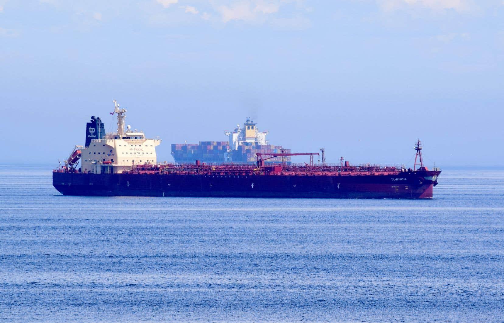 Depuis déjà plusieurs jours, des navires sont stoppés sur le Saint-Laurent, au large de Trois-Pistoles.