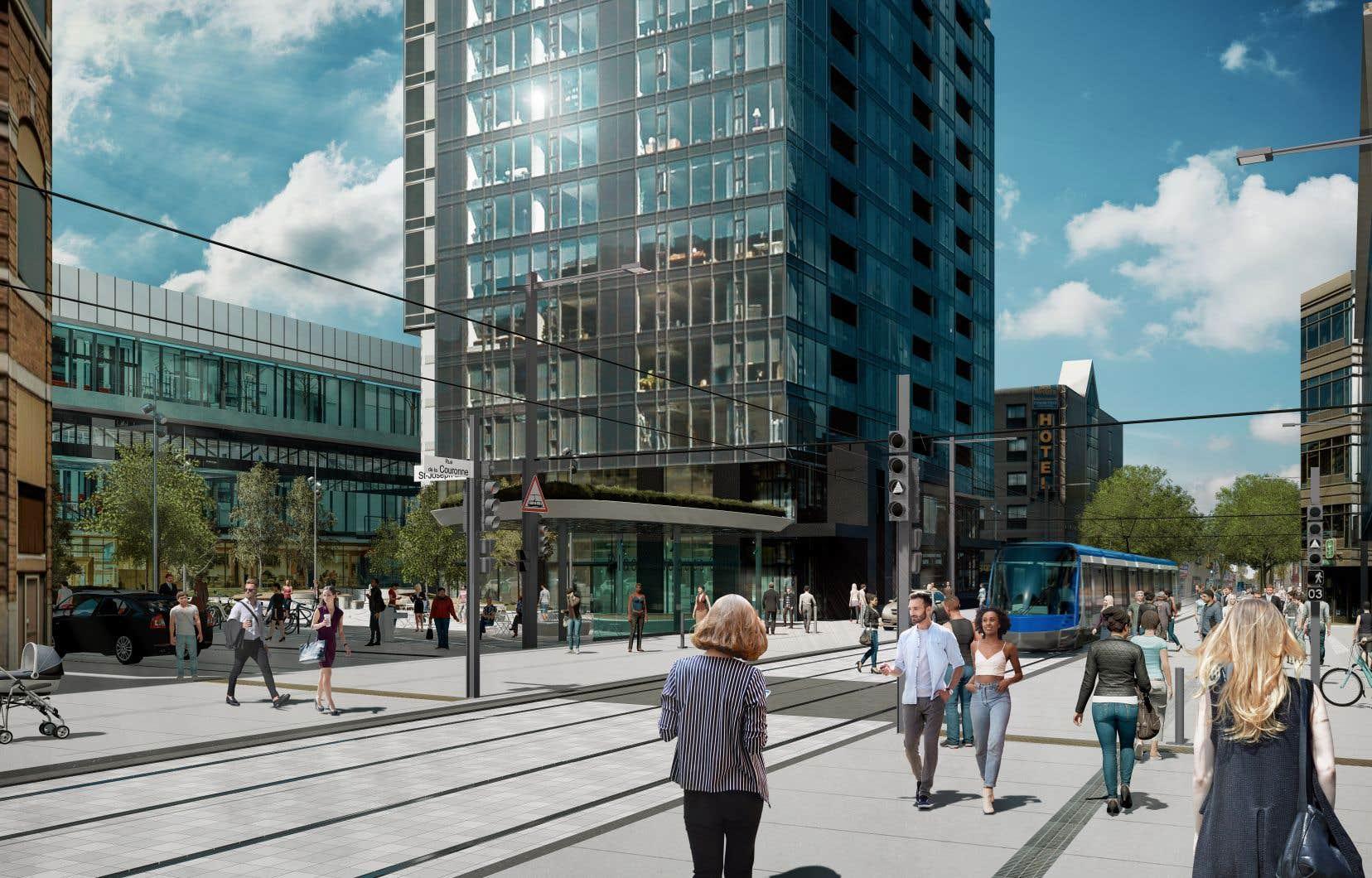 L'un des principaux changements dans Saint-Roch est le retrait de la circulation automobile de la rue de la Couronne désormais réservée au tramway et aux piétons.