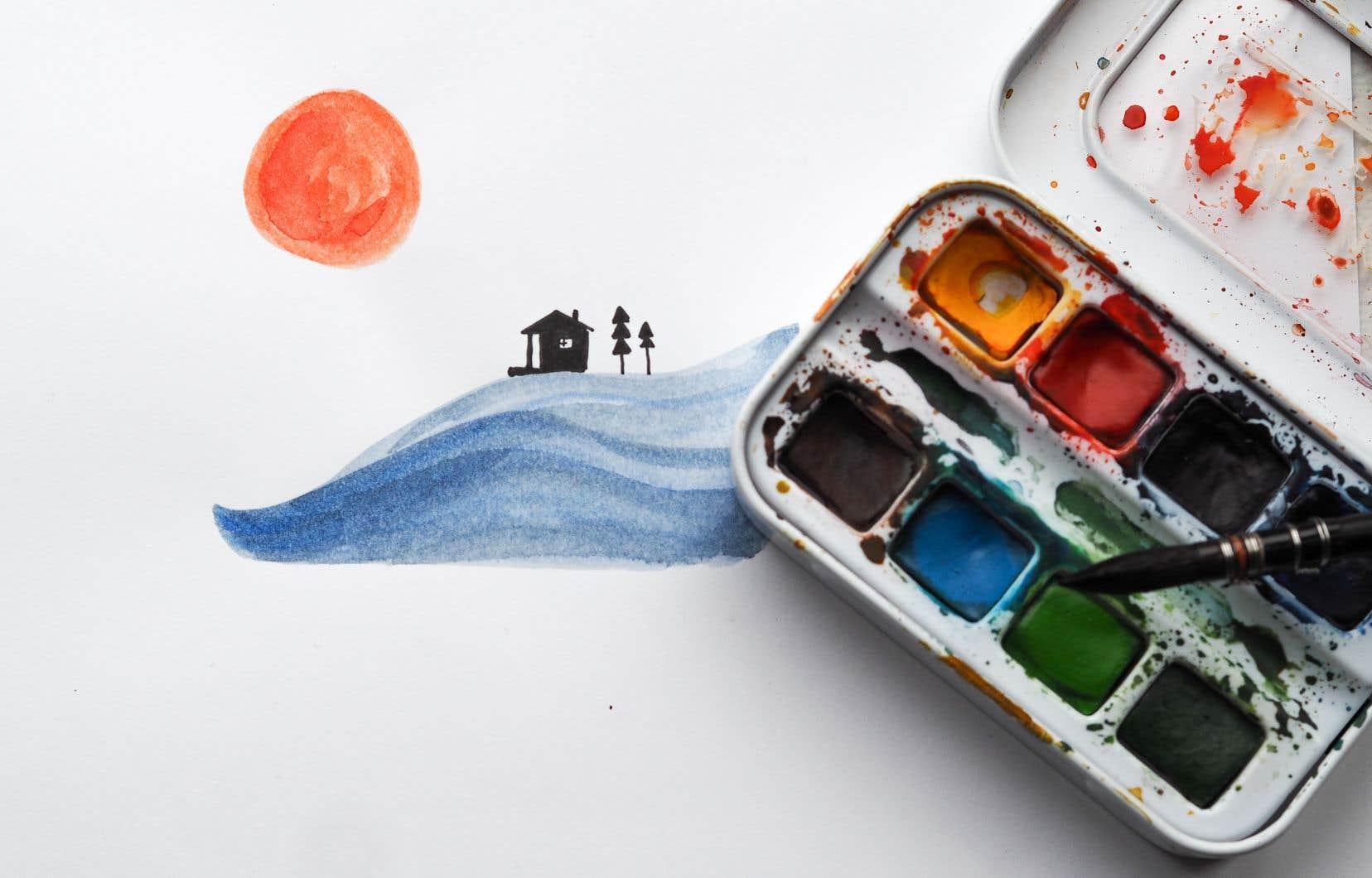 Des ateliers d'art-thérapie en ligne sont proposés chaque vendredi.