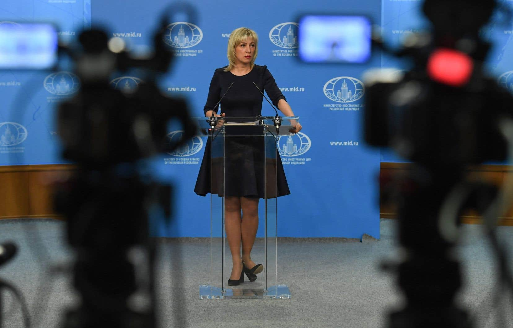 La porte-parole de la diplomatie russe, Maria Zakharova.