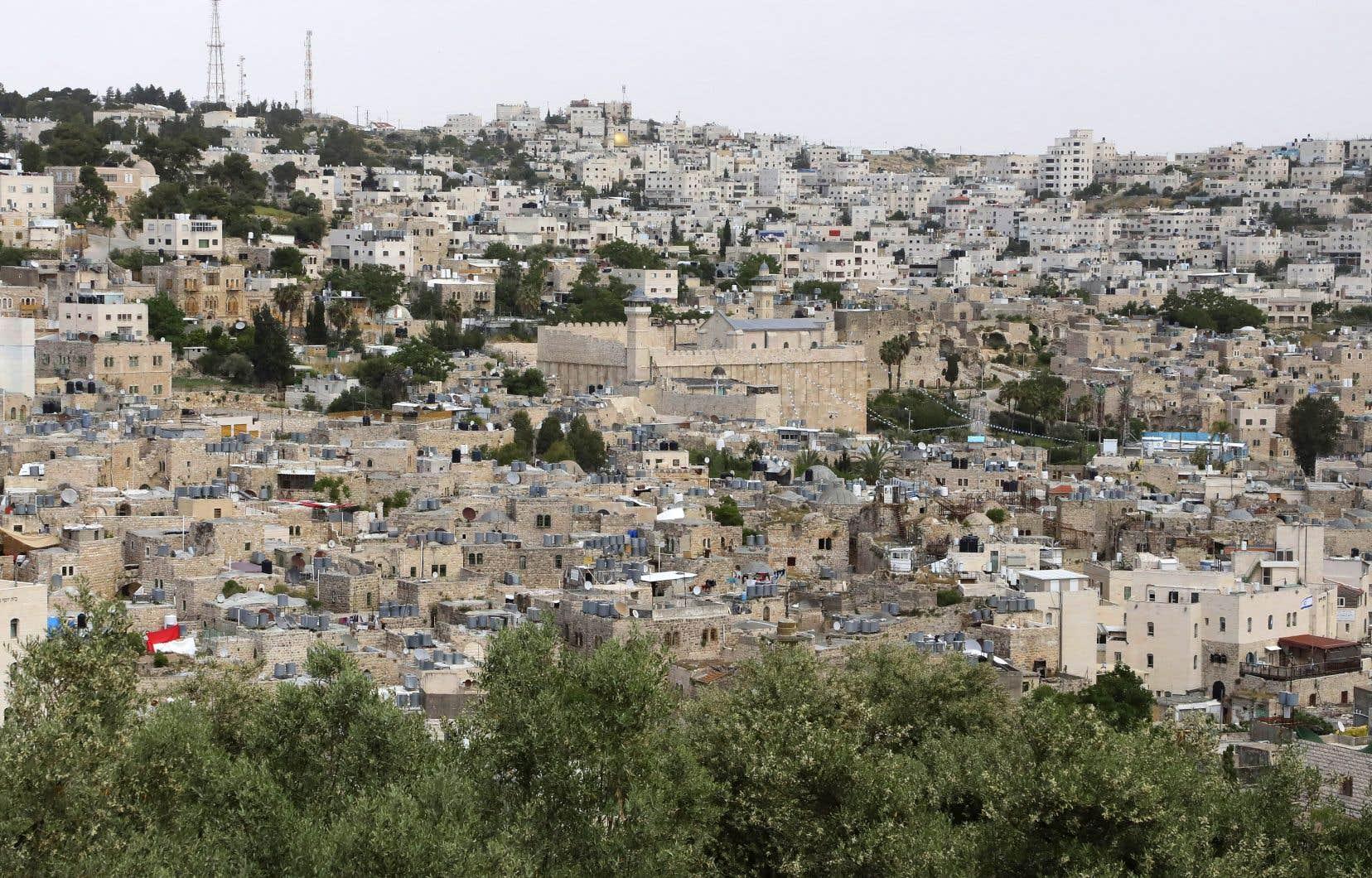 Israël souhaite annexer certains territoires occupés cisjordaniens. Sur la photo, la ville d'Hebron, en Cisjordanie