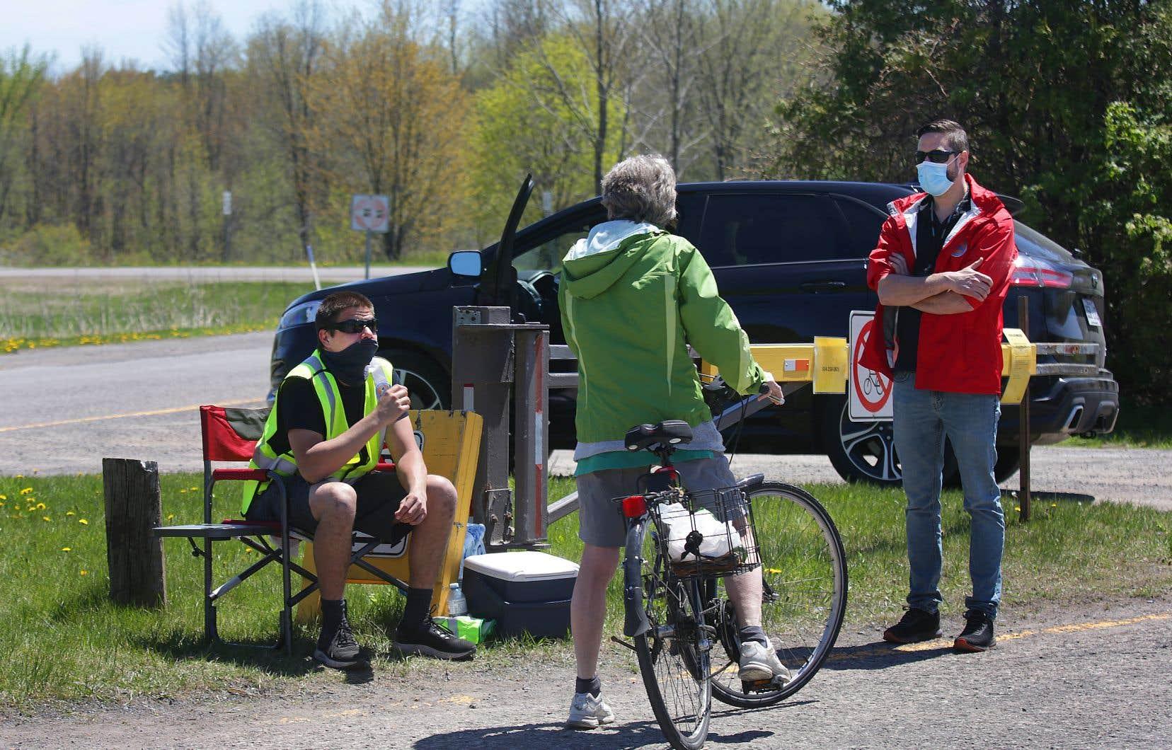 Les Mohawks de Kanesatake veulent que le parc d'Oka rester fermé au moins jusqu'au 1er juin pour éviter une éclosion de cas de COVID-19 au sein de leur communauté.