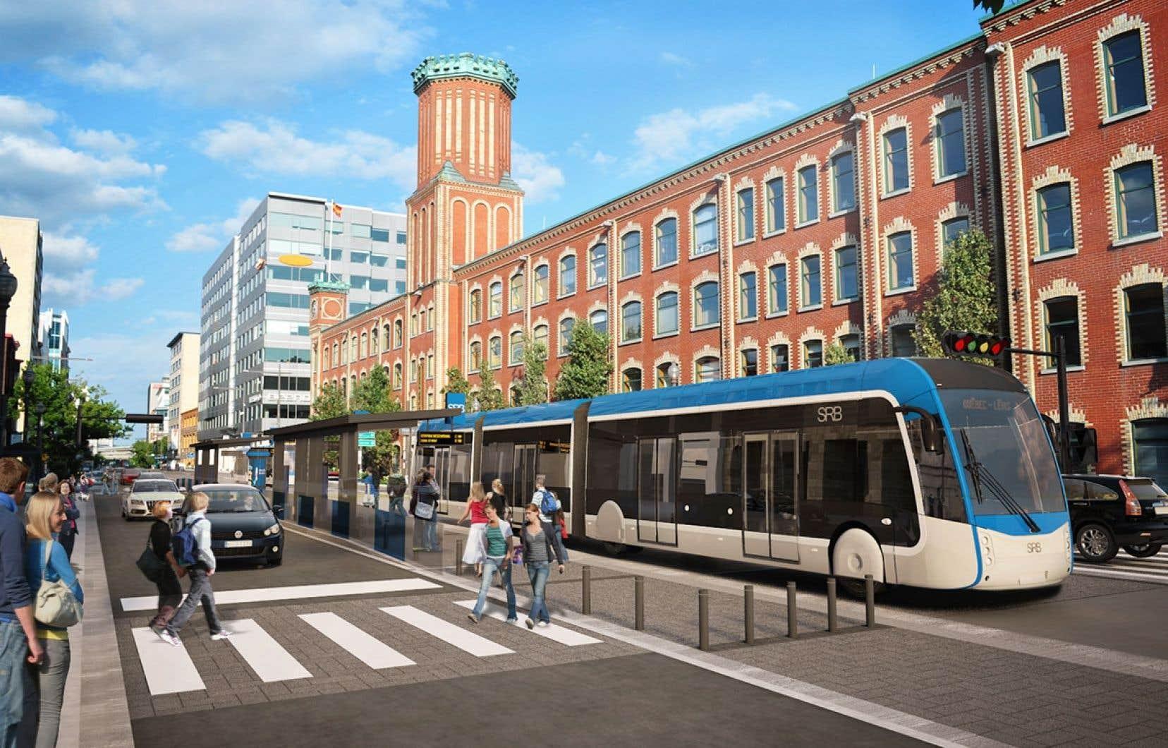 Le projet de tramway de la Ville de Québec est estimé à 3,3 milliards de dollars et sa mise en service est prévue pour 2026.