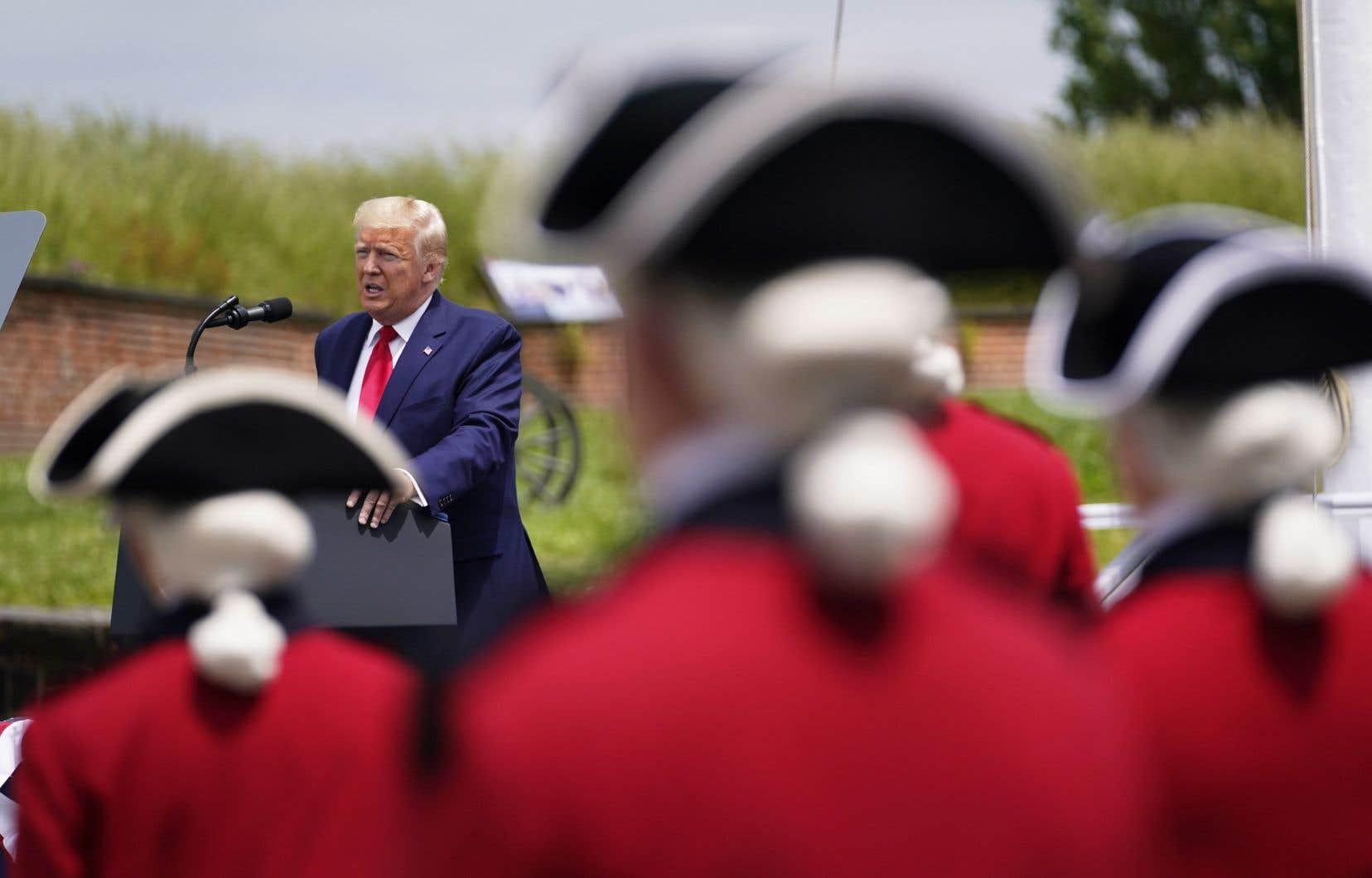 Le président américain, Donald Trump, lors d'une cérémonie pour le Memorial Day, à Baltimore