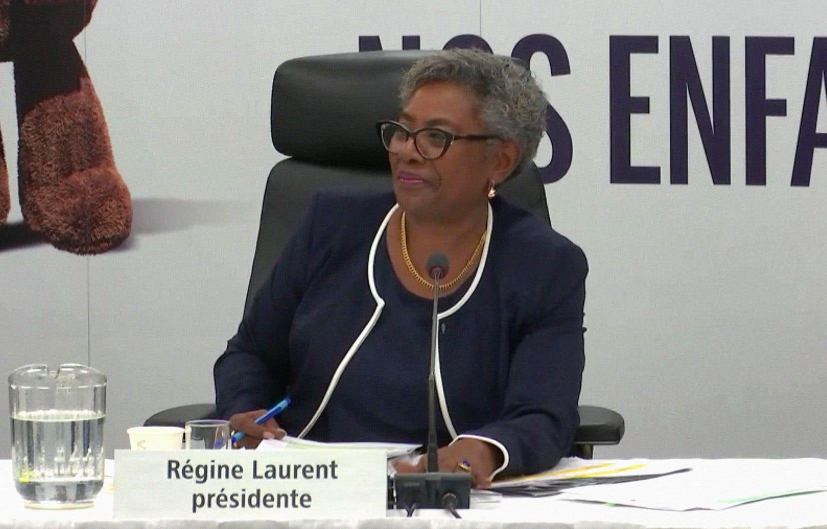 La présidente de la commission, Régine Laurent
