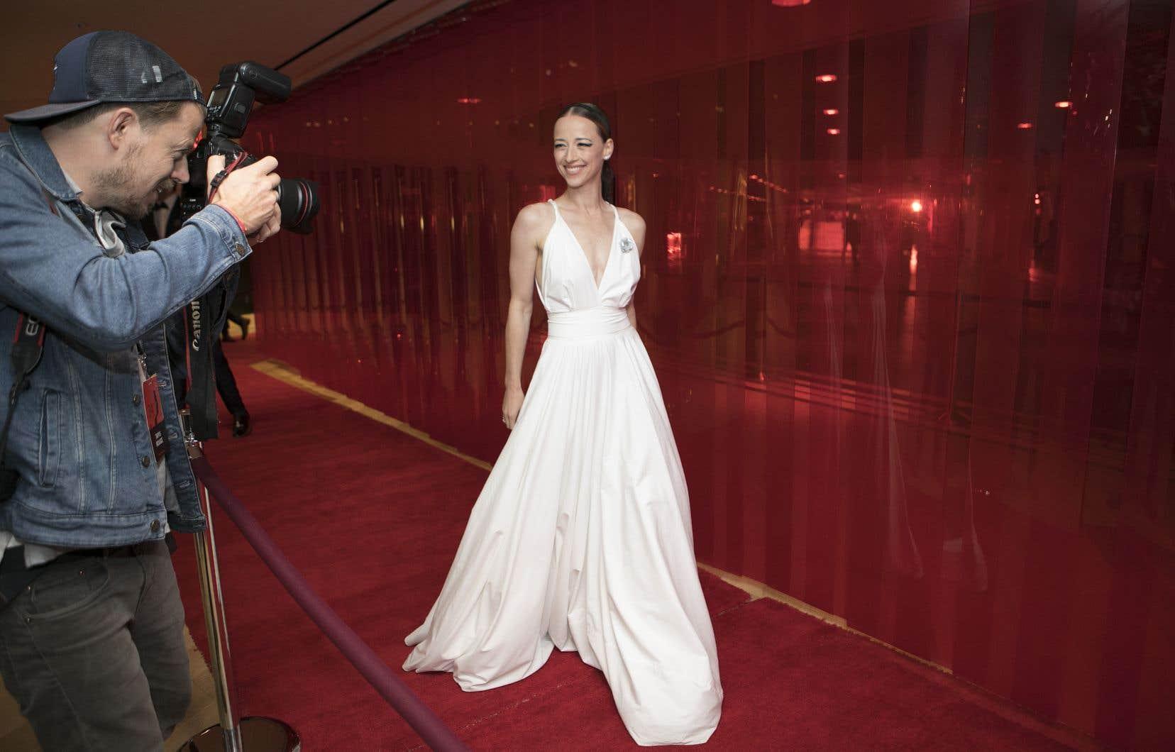 Karine Vanasse lors du gala des prix Gémeaux en 2019