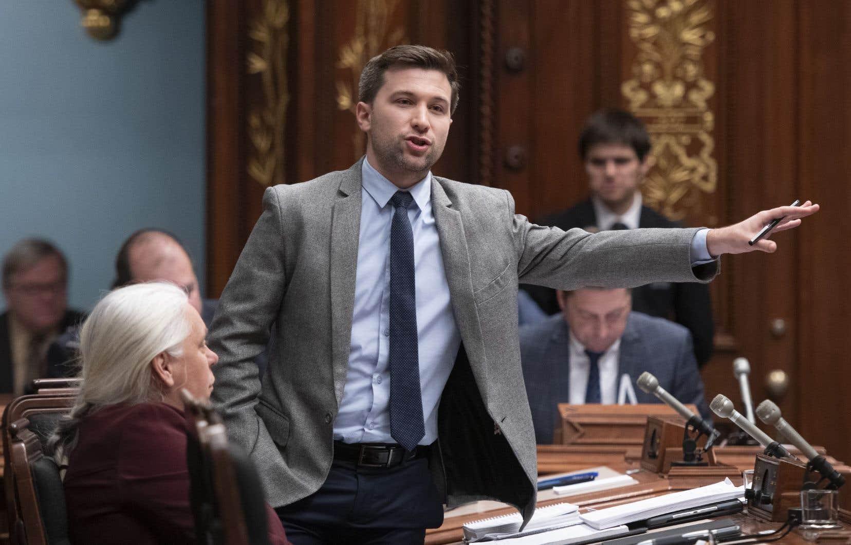 Le co-porte-parole de Québec solidaireGabriel Nadeau-Dubois