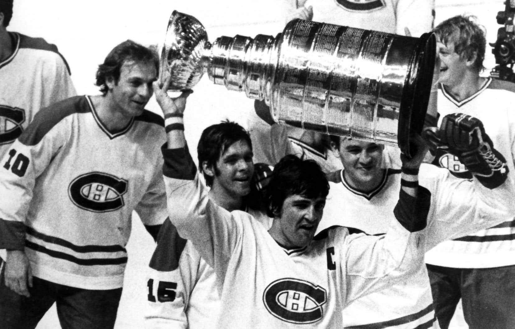 TVA Sports a proposé dans les derniers jours la diffusion des quatre victoires de la Coupe Stanley consécutives remportées par les Canadiens de Montréal de 1976 à 1979 (notre photo).