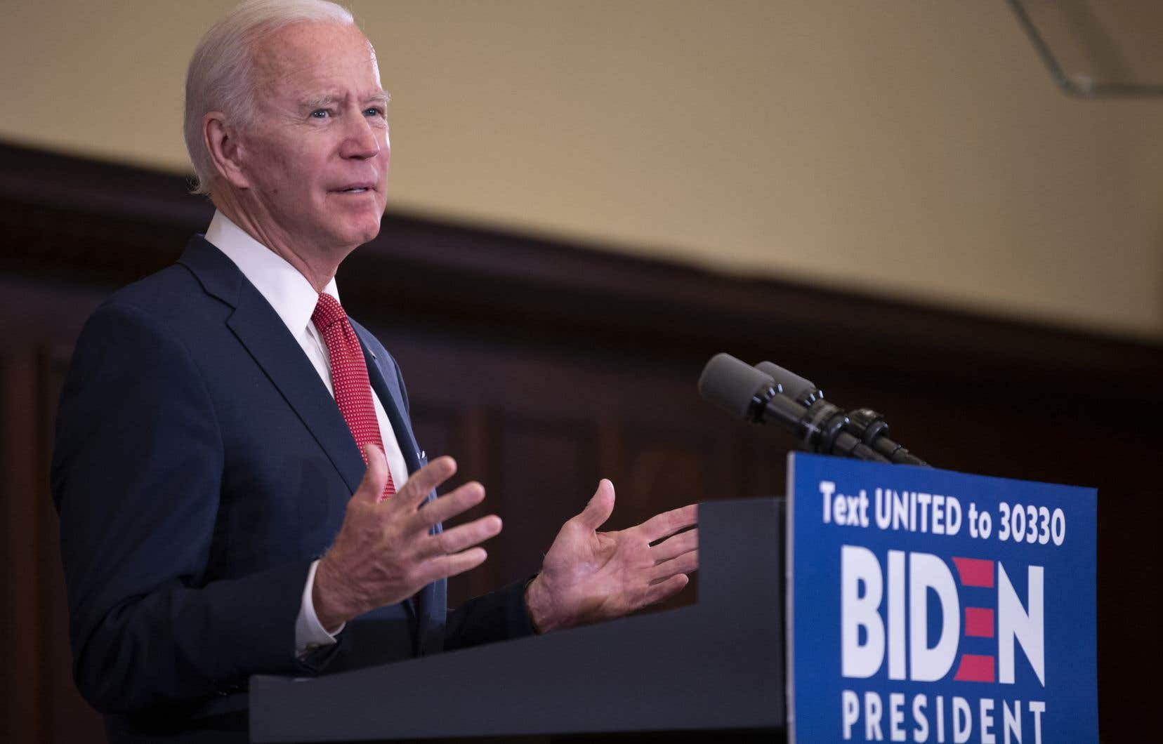 La candidat démocrate à la présidentielle américaine Joe Biden est de retour sur le terrain. Il prononçait mardi un discours à Philadelphie.