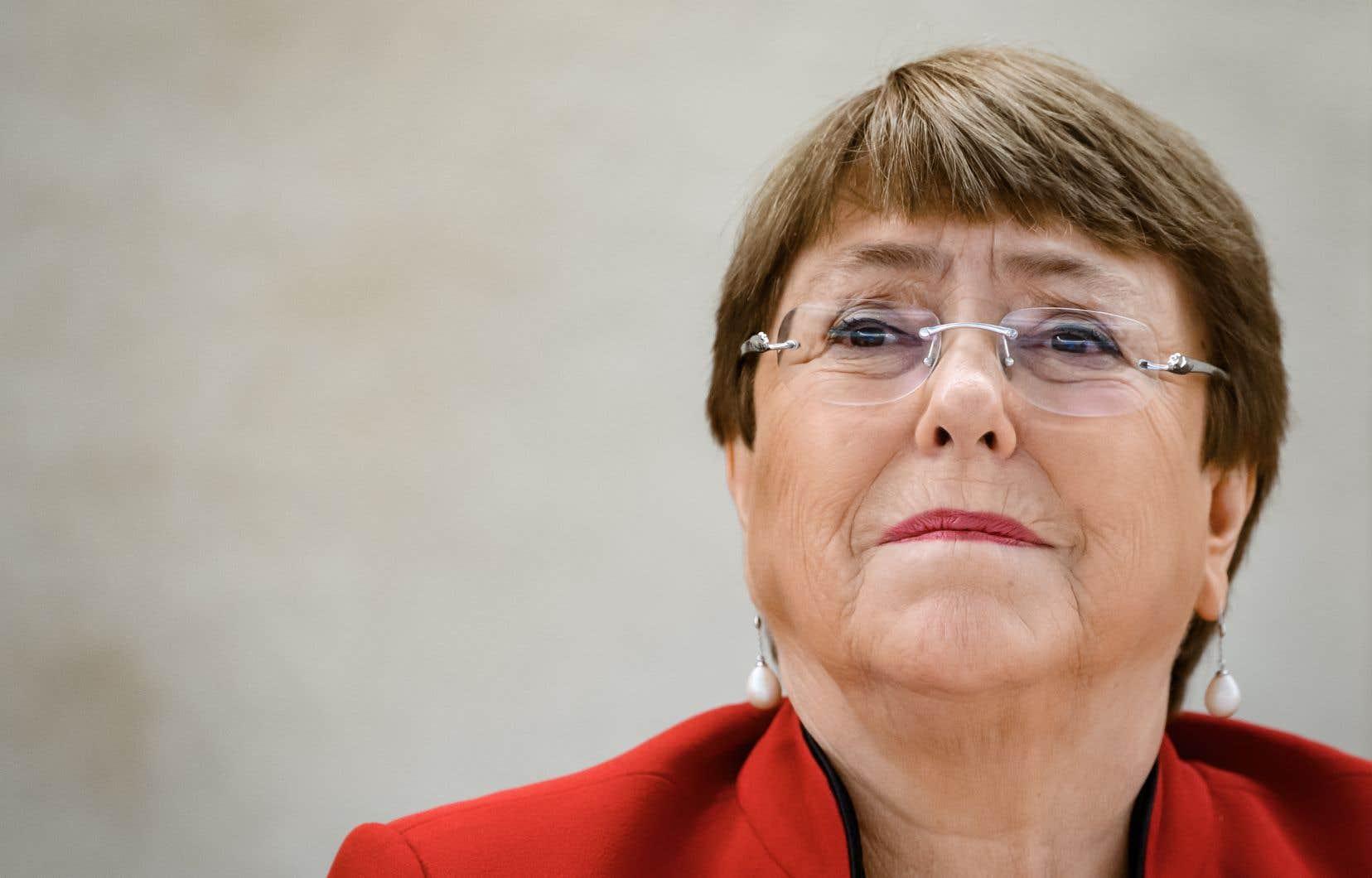 La haute-commissaire aux droits de l'homme à l'ONU, Michelle Bachelet