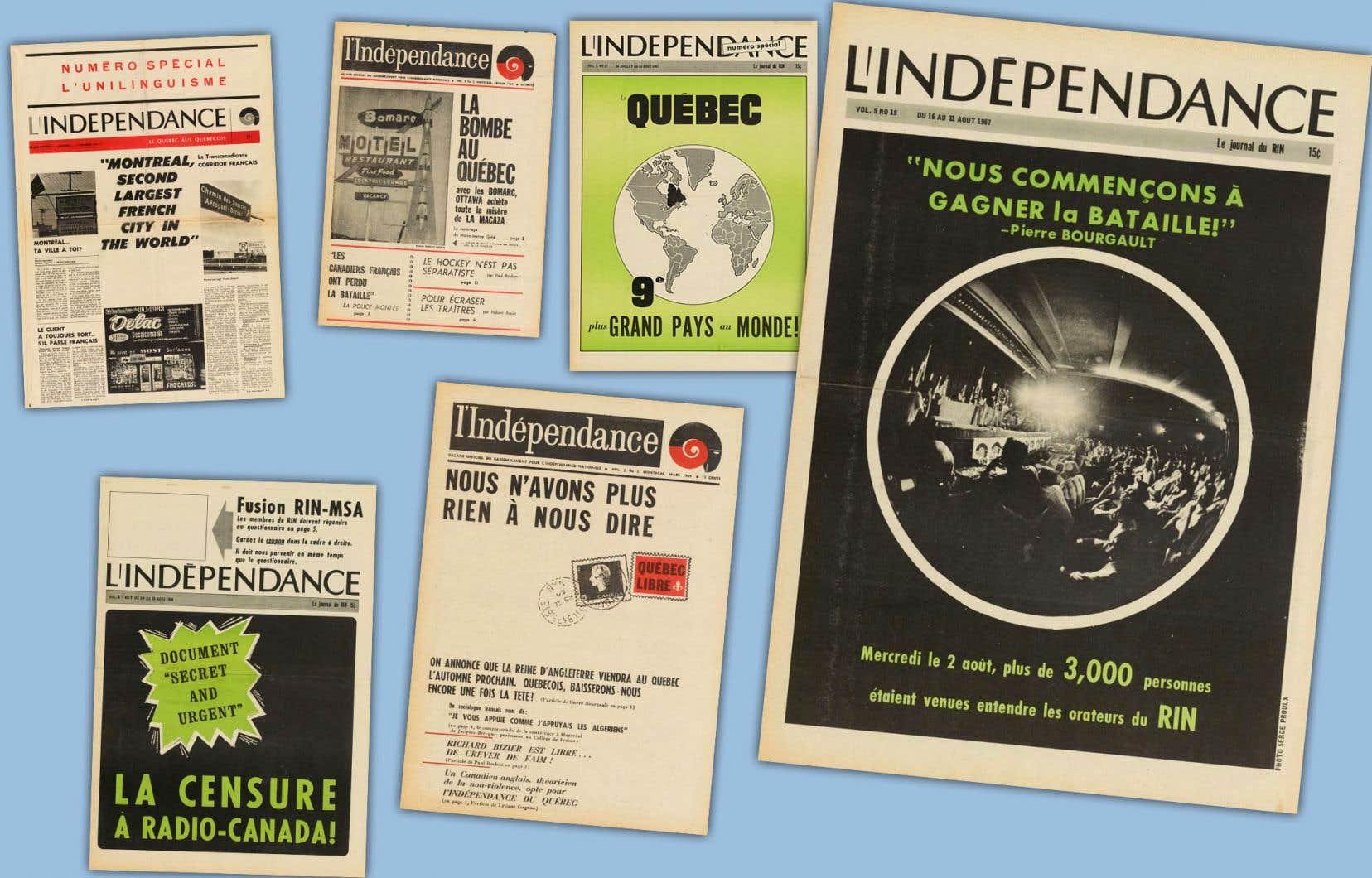 Les unes du journal «L'Indépendance» affichent de larges titres percutants.
