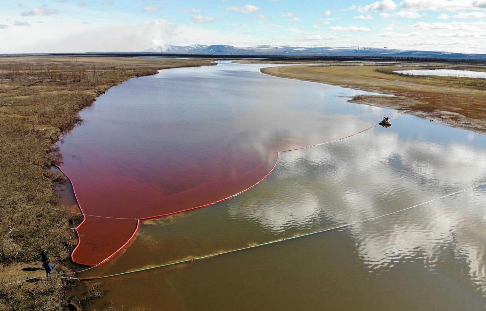 La rivière Ambarnaïa, touchée par la pollution, sera difficile à nettoyer car elle se trouve loin des routes.