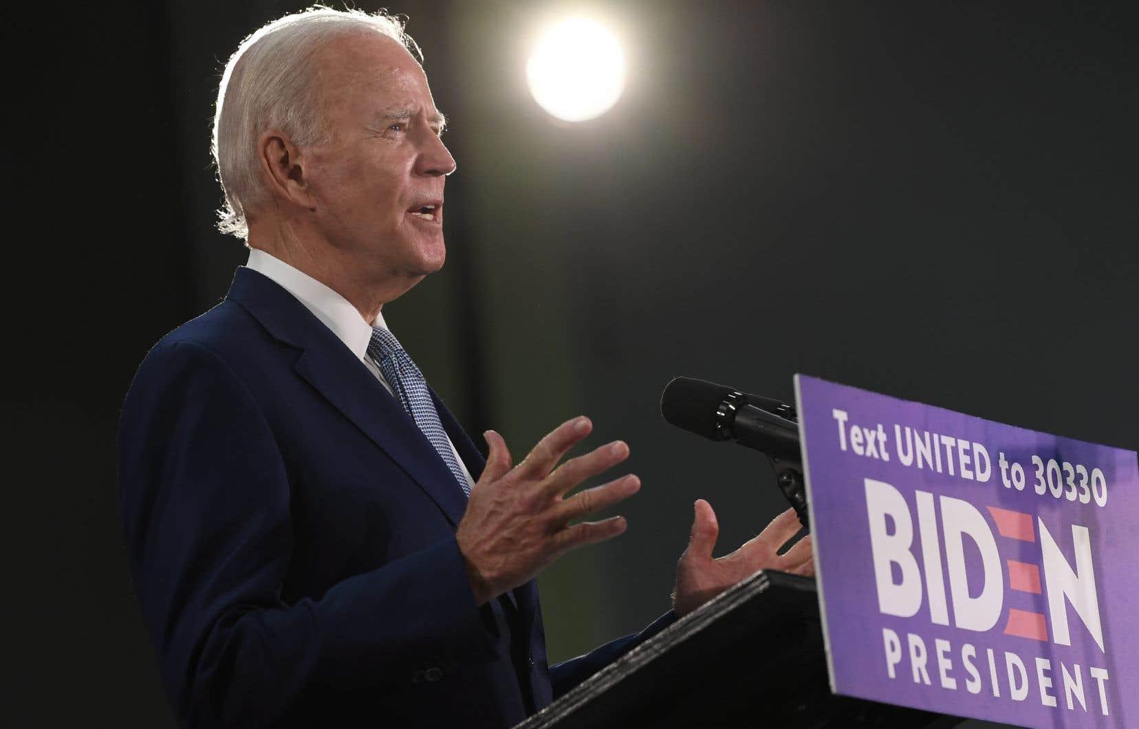 Joe Biden, 77ans, a franchi le seuil des 1991 délégués lui permettant de s'assurer de sa nomination par le parti démocrate.