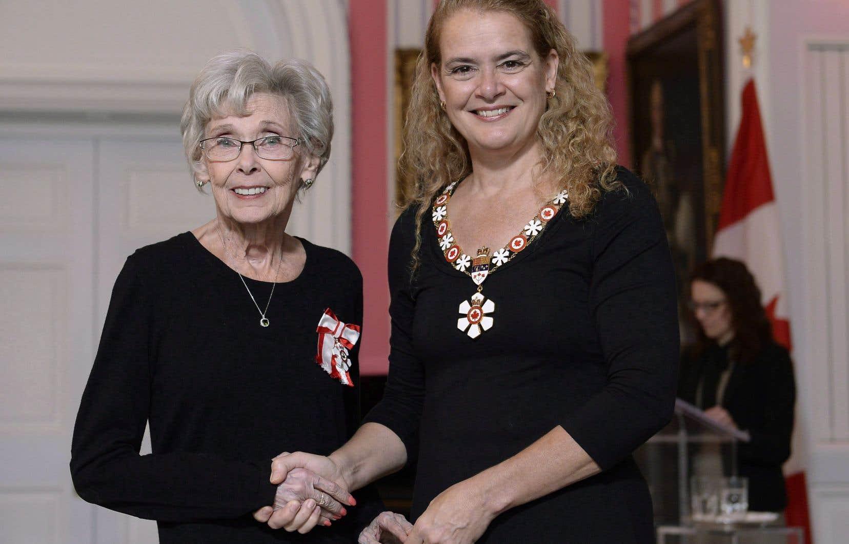 Andrée Champagne a été nommée membre de l'Ordre du Canada en 2018.