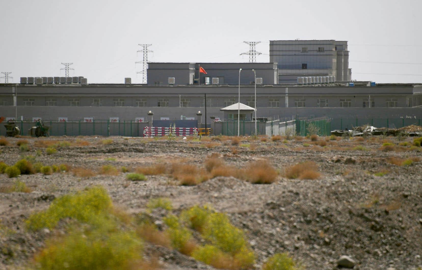 Un camp suspecté de «rééducation» de la minorité ouïghoure dans la province du Xinjiang, en Chine.