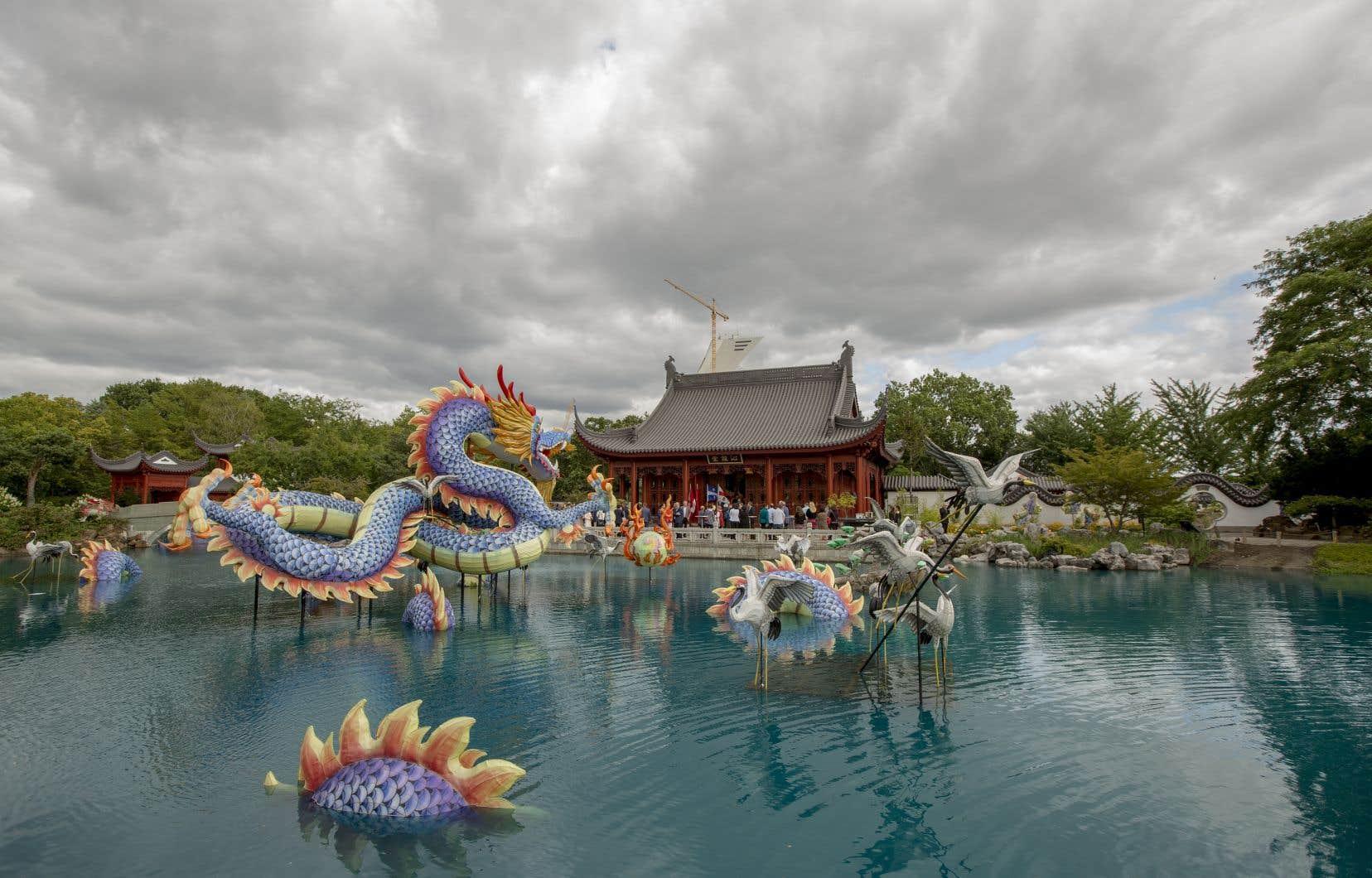 Le pavillon du Jardin de Chine (sur la photo) demeurera fermé.