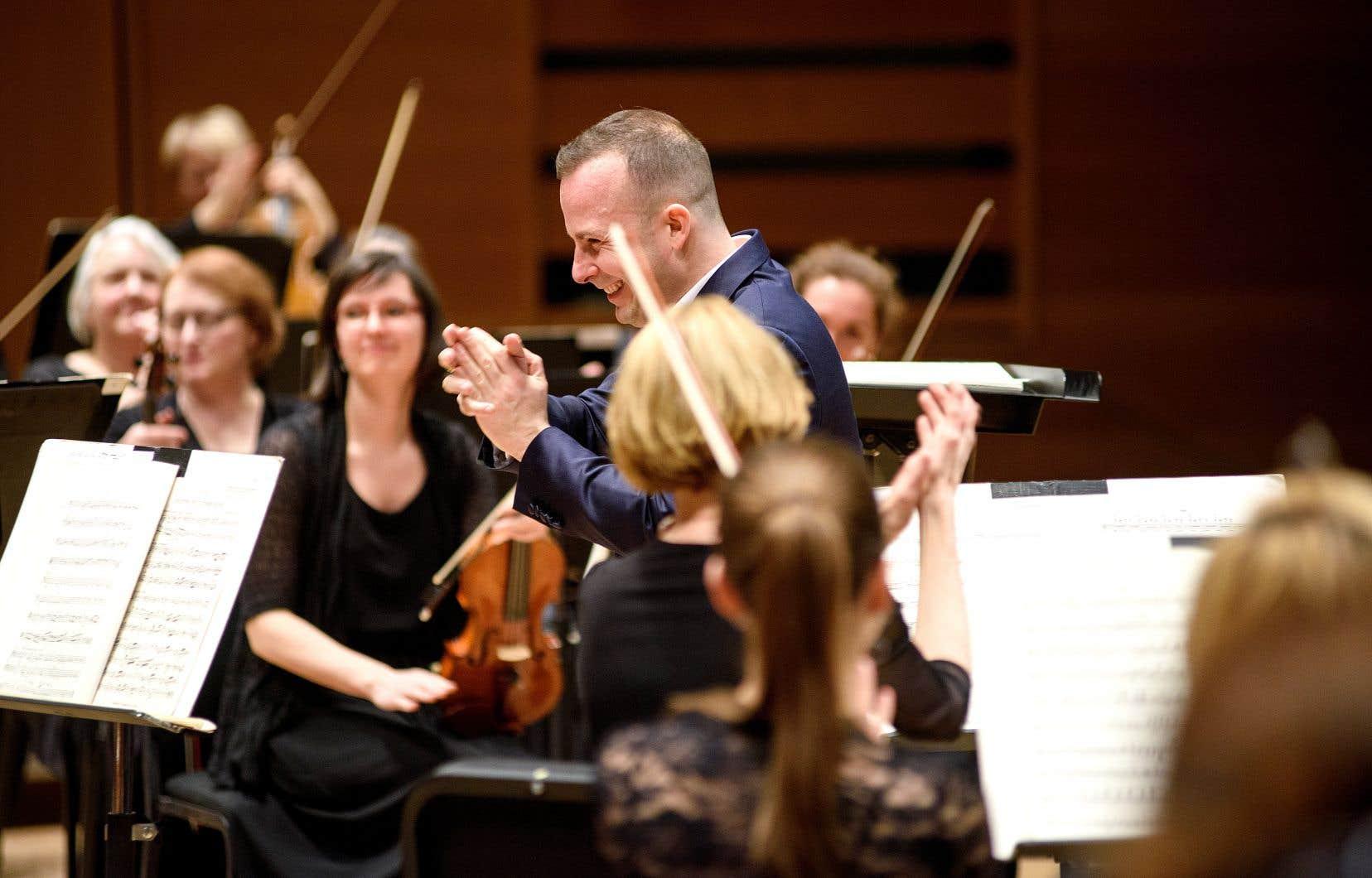 Le chef Yannick Nézet-Séguin et les musiciens de l'Orchestre Métropolitain prendront leur place au parterre, où une cinquantaine de personnes pourront se réunir.