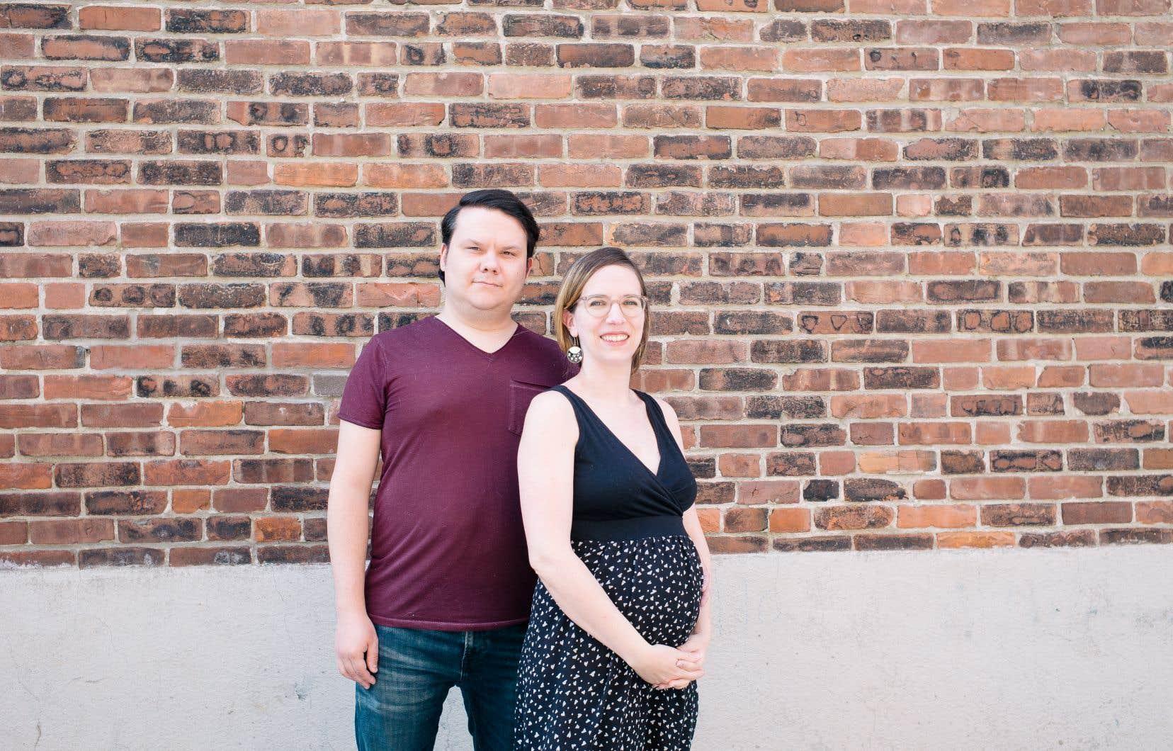 Fanie Grégoire est enceinte de son premier enfant. Anxieuse, elle a éclaté en sanglots quand on ne lui a pas permis de joindre son conjoint Frédéric Gemus par FaceTime dans la salle de radiologie.