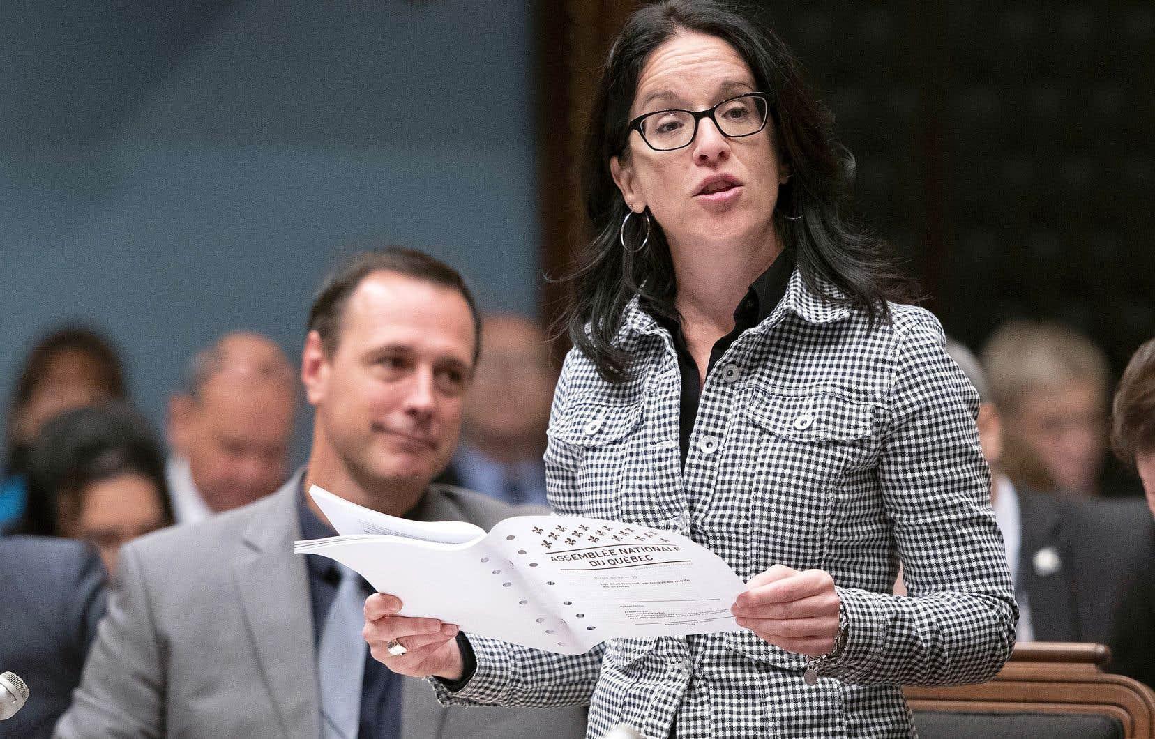 La ministre de la Justice du Québec, Sonia LeBel
