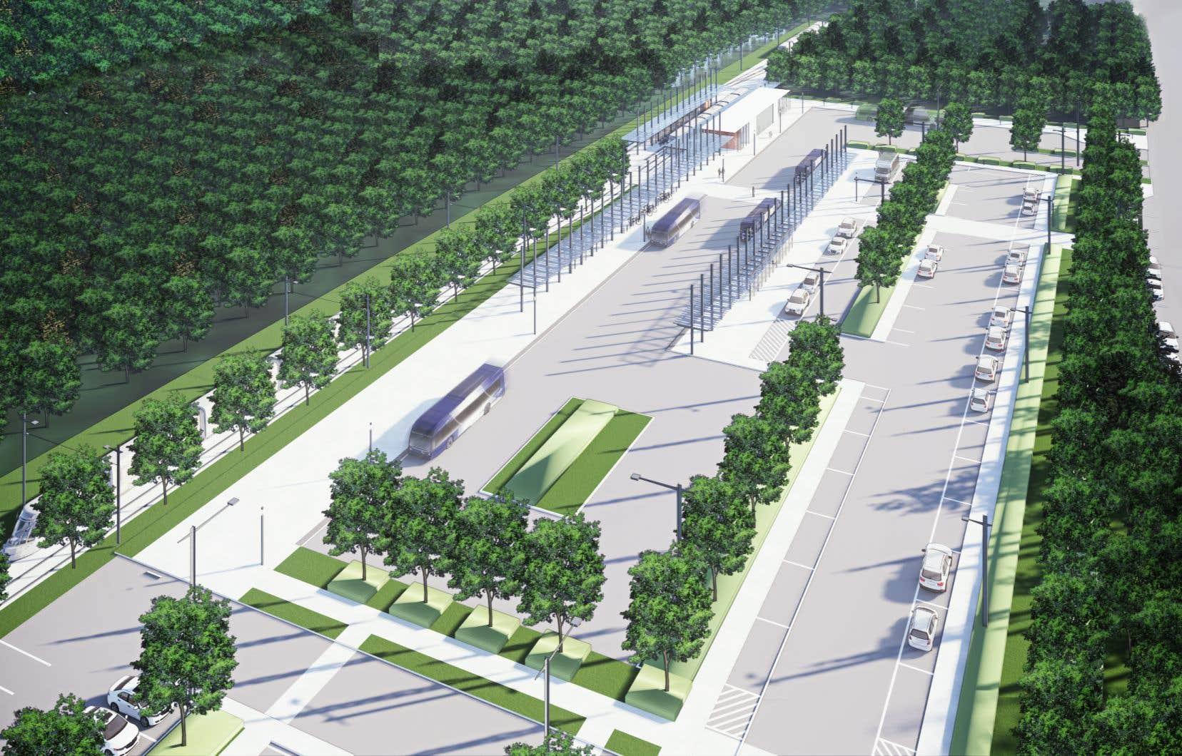 La zone ciblée se trouve entre l'avenue Legendre et l'autoroute Duplessis.Le terminus du futur tramway doit être construit non loin de là, tout comme le futur centre d'entretien du réseau de transport.