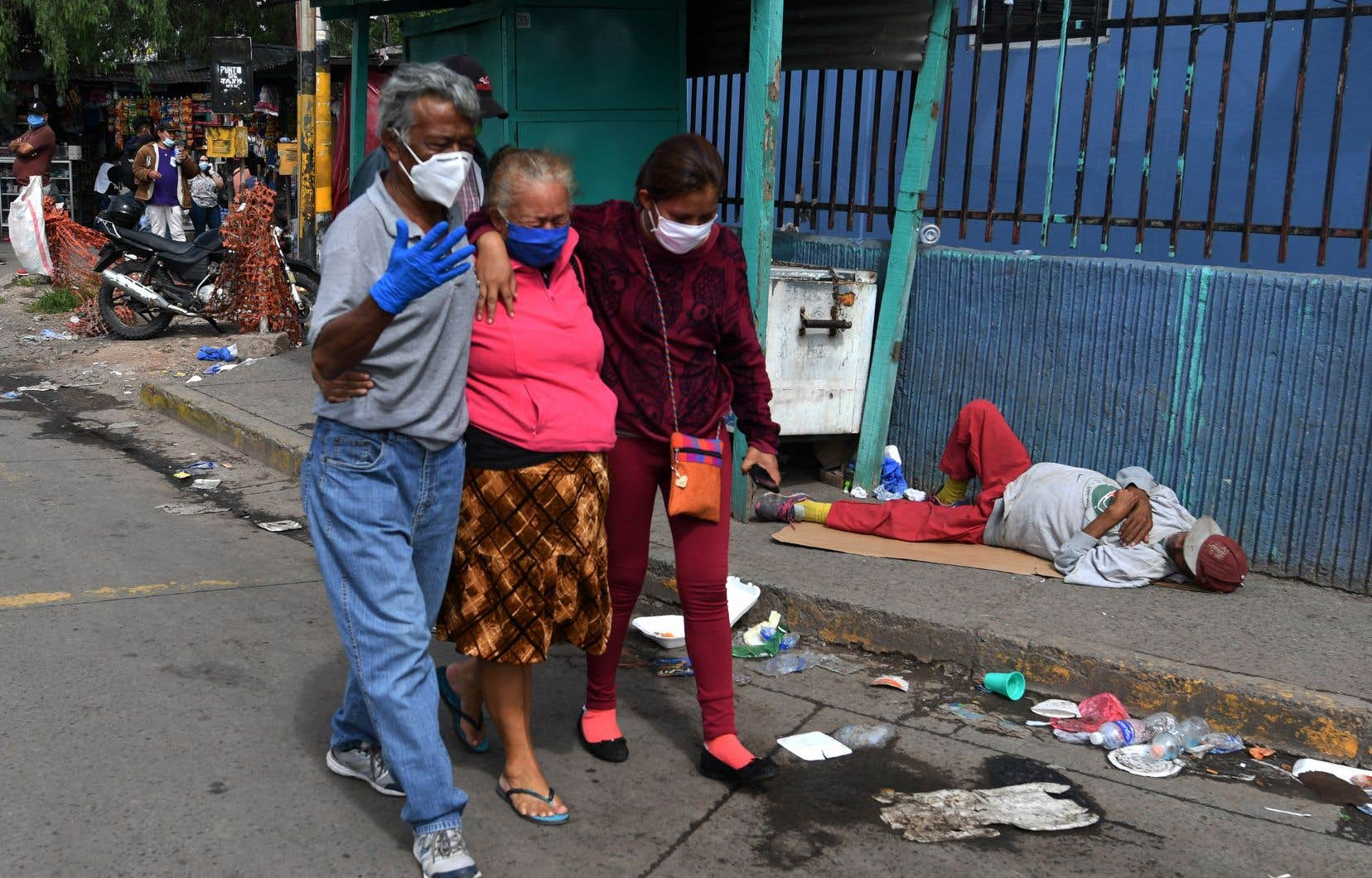 La pandémie continue aussi de faire rage en Amérique latine et aux Caraïbes, qui ont franchi la barre des 80000 décès. Le Honduras (photo) a rapporté plus de 300 décès.