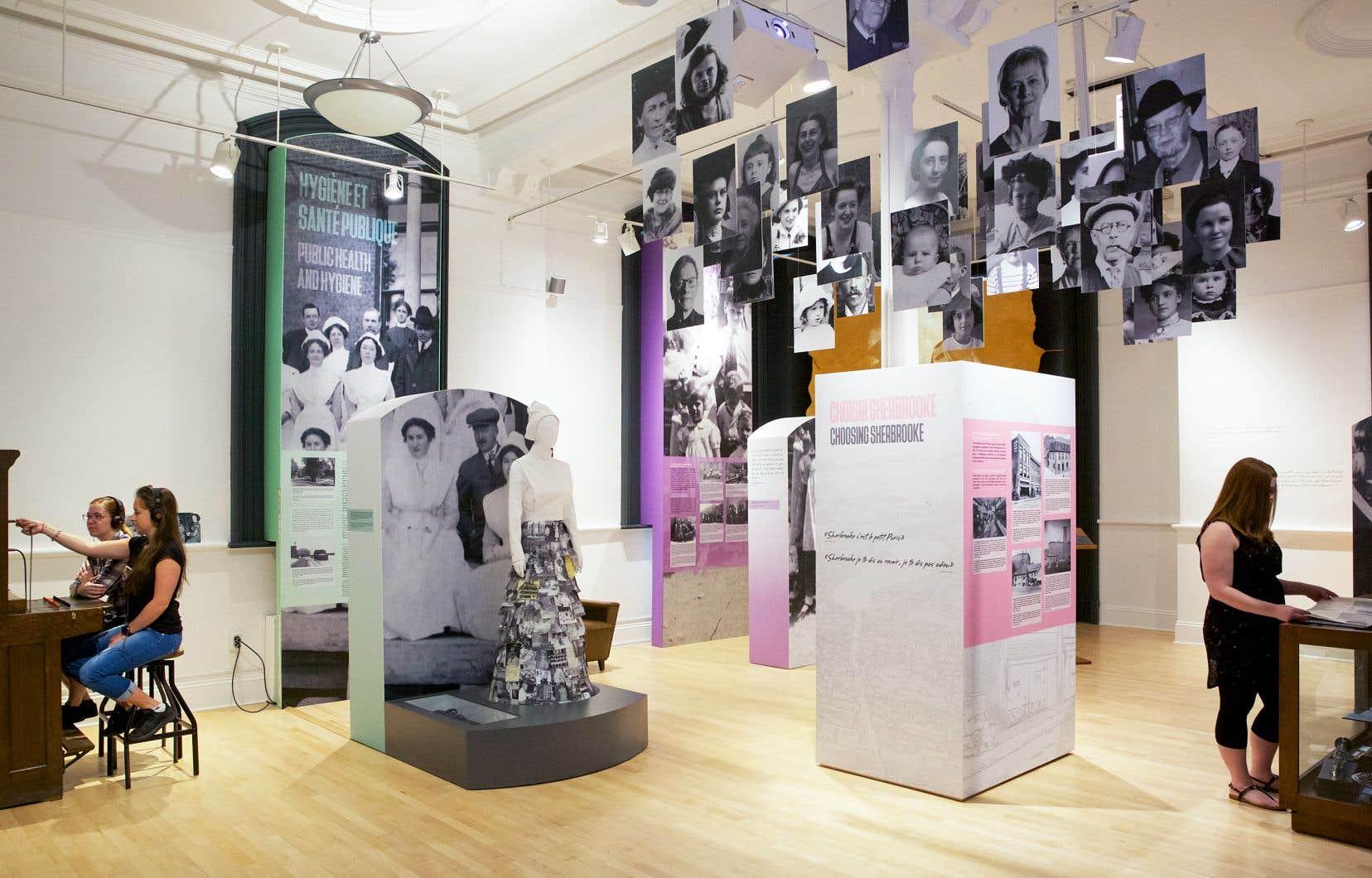 Comme tous les musées du Québec, le Musée d'histoire de Sherbrooke a ajusté sa manière de présenter son contenu pour se conformer aux directives de la Commission des normes, de l'équité, de la santé et de la sécurité du travail.