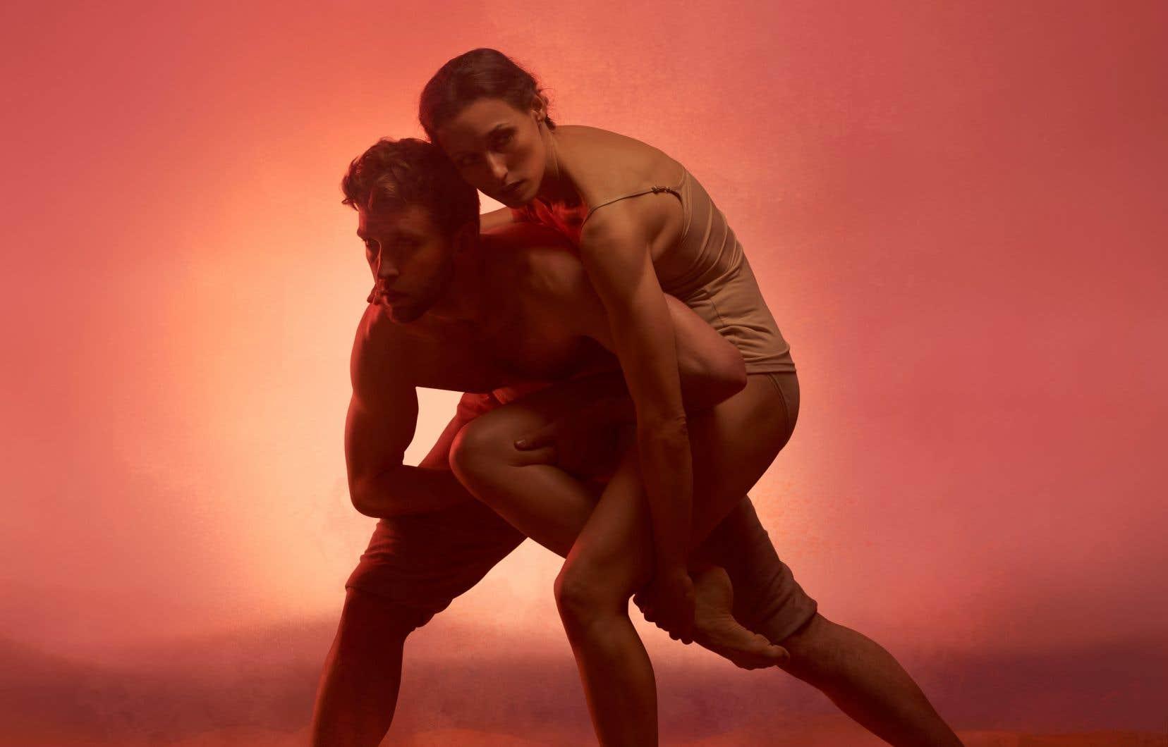 Alisia Pobega et Brett Andrew Taylor dans une scène de <em>Rose of Jericho</em>, chorégraphiée par Andrew Skeels. Si on pense seulement aux danseurs, leur démarche artistique a été complètement chamboulée depuis le début de la pandémie.