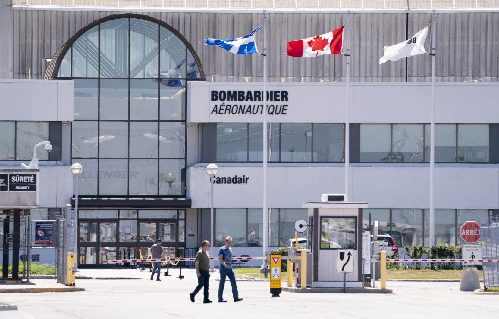Une installation de Bombardier à Montréal