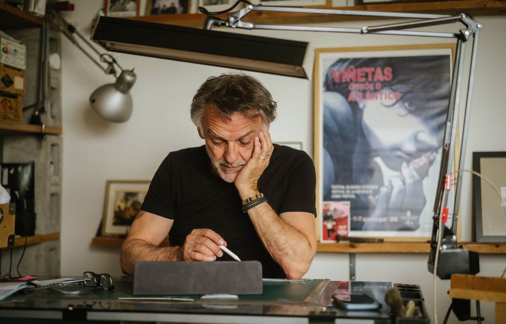 Jean-Louis Tripp dans  son atelier montréalais