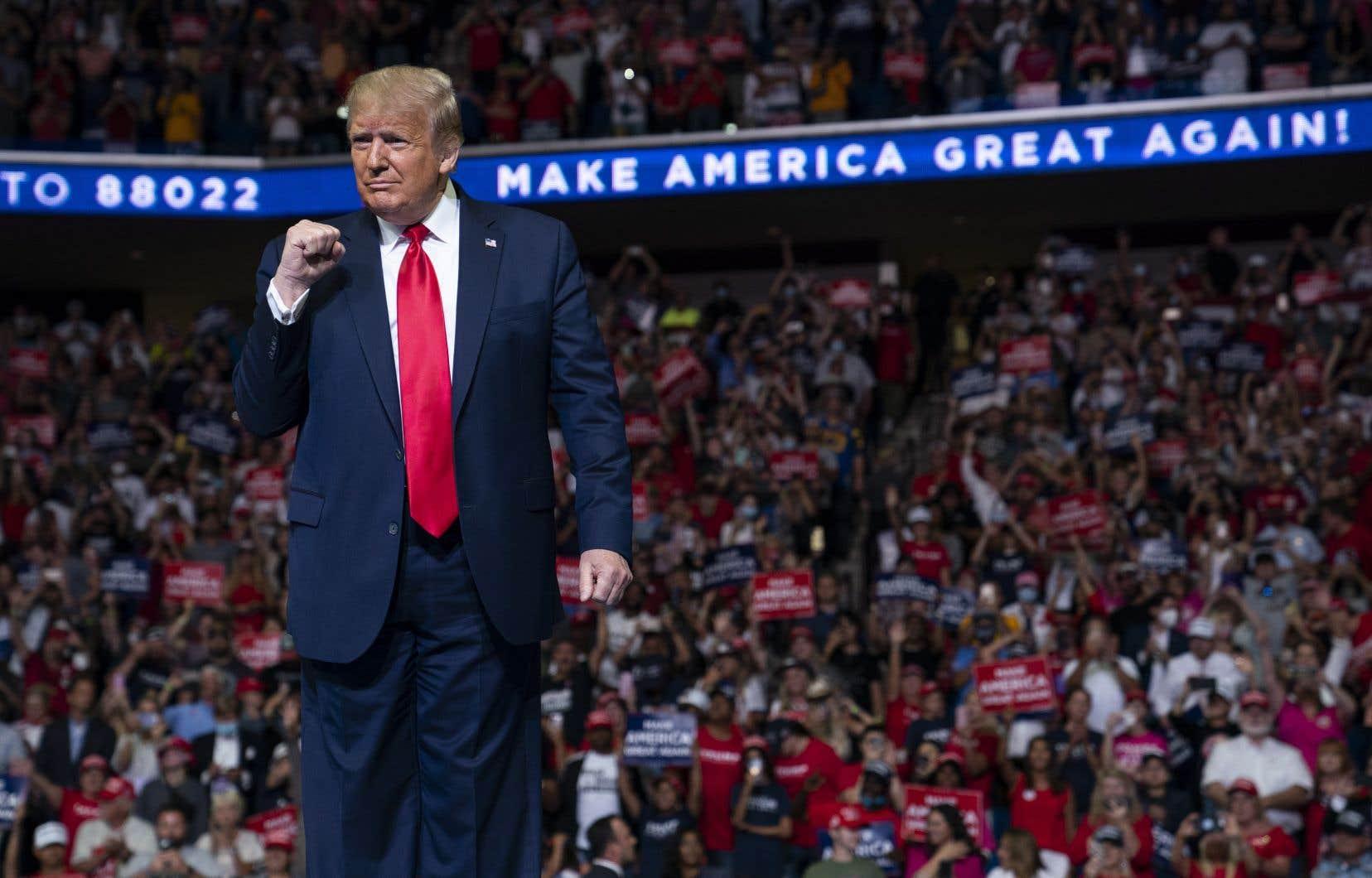 La foule beaucoup moins importante qu'annoncée au rassemblement de Tulsa a particulièrement frustré Donald Trump.